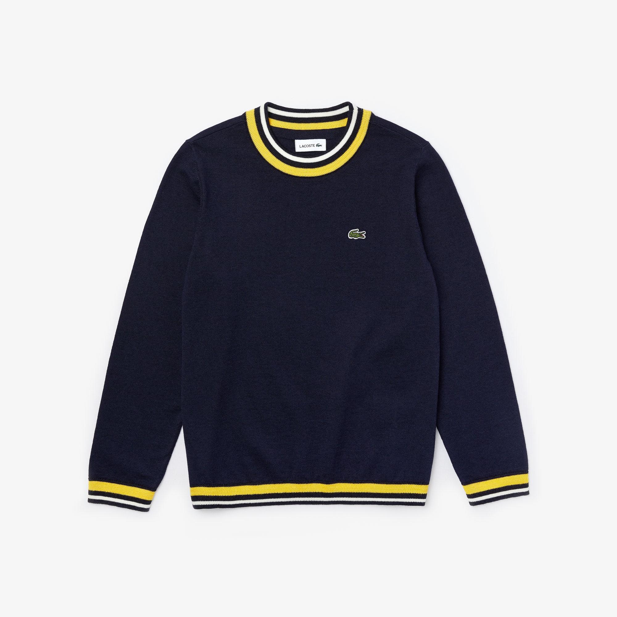 라코스테 Lacoste Boys Striped Details Wool And Cotton Sweater