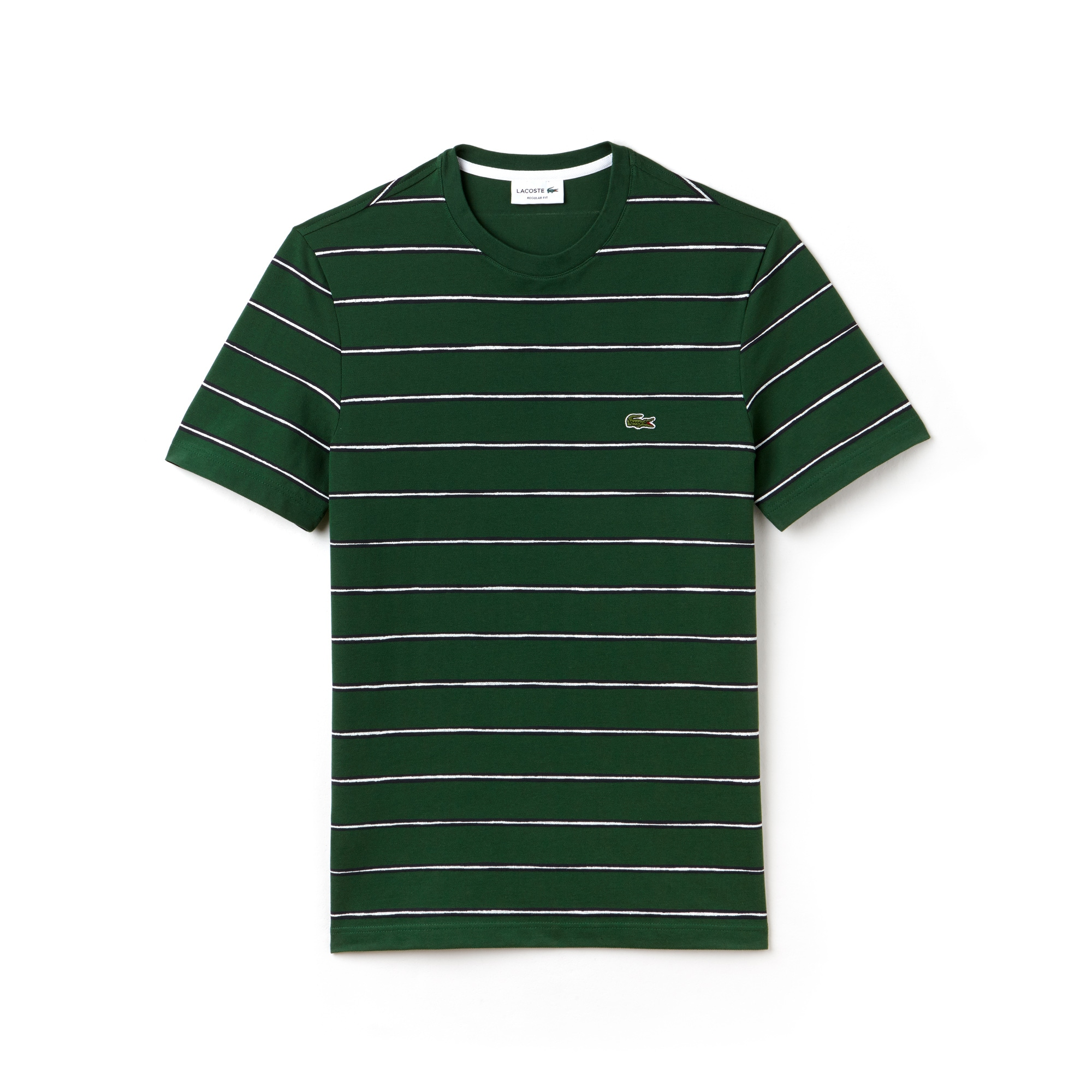 Men's Striped Print Mini Piqué T-Shirt