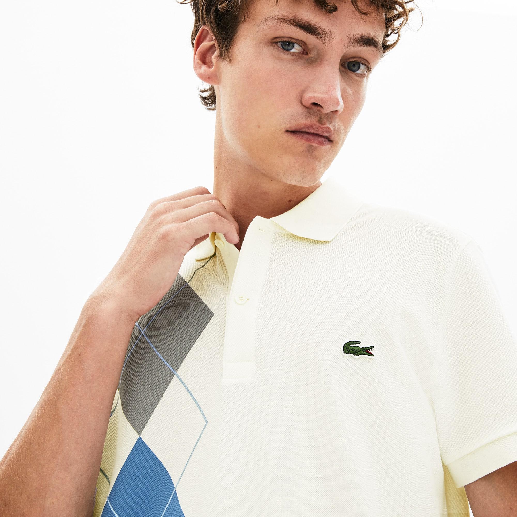 Lacoste Tops Men's Regular Fit Jacquard Cotton Piqué Polo