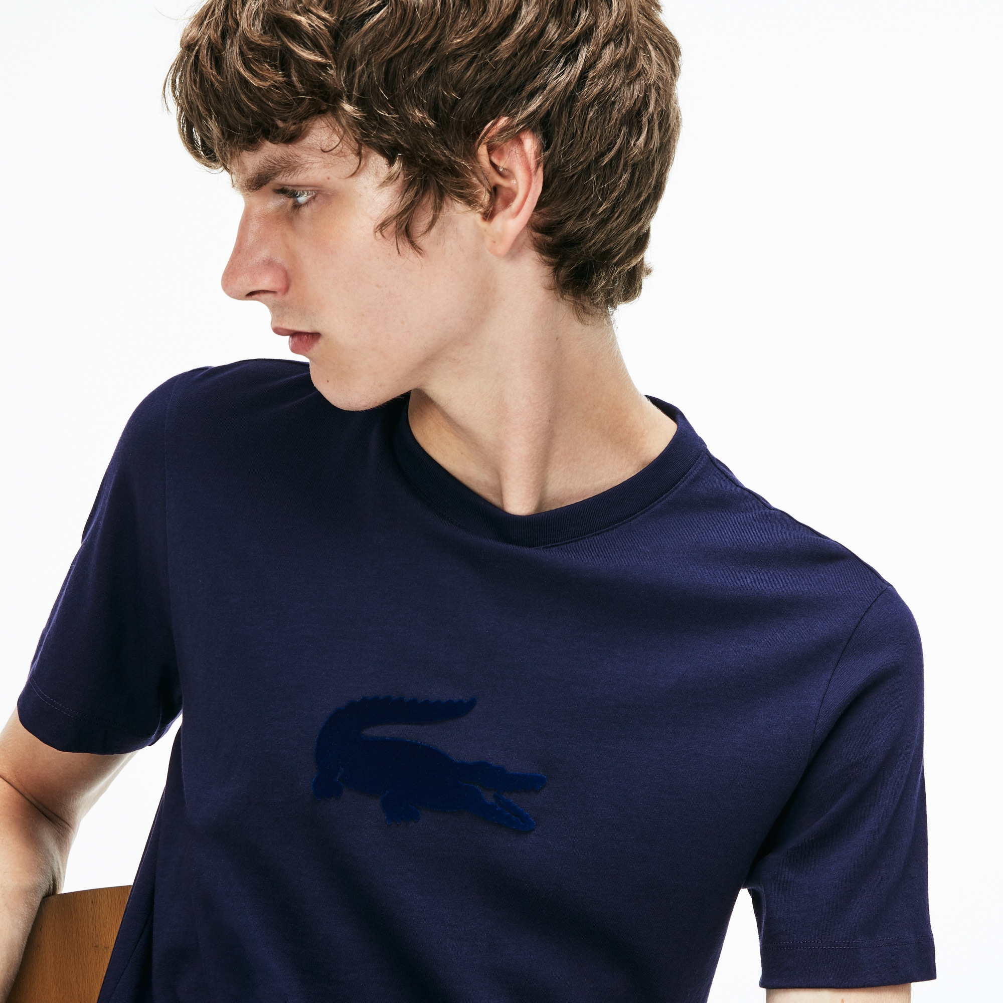 Men's Crew Neck Oversized Crocodile Jersey T-shirt