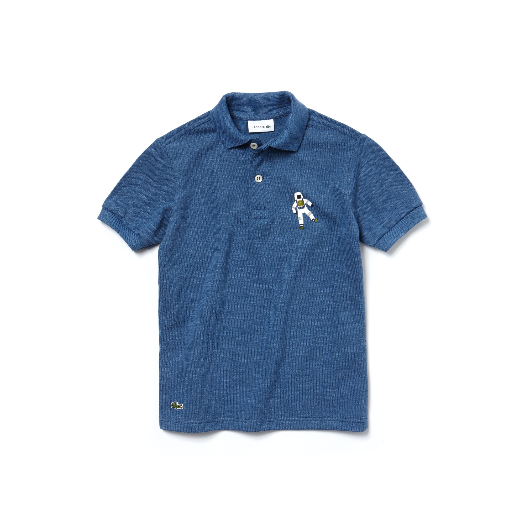 Boys' Astronaut Print Cotton Piqué Polo