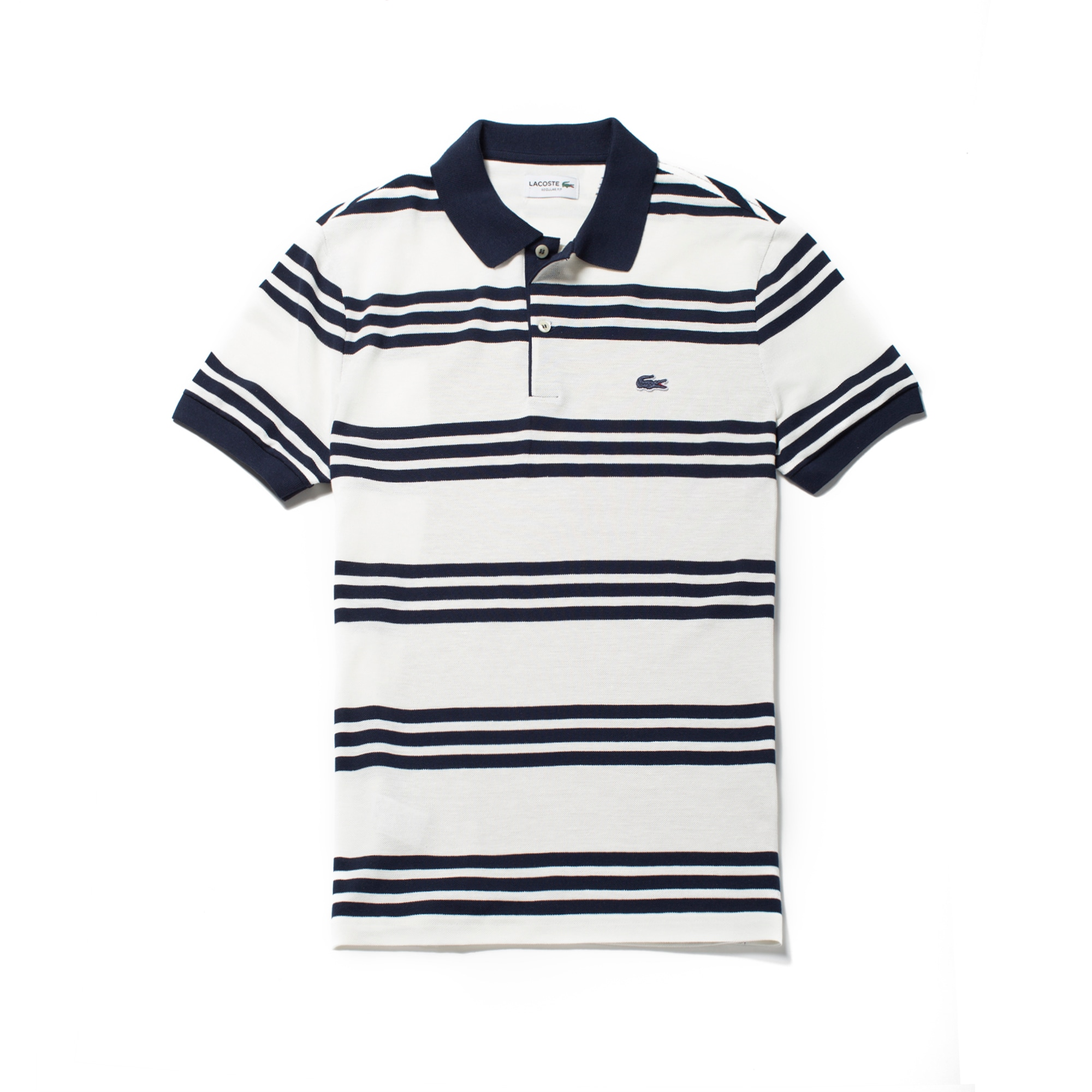 Men's Regular Fit Lacoste Striped Piqué Polo Shirt