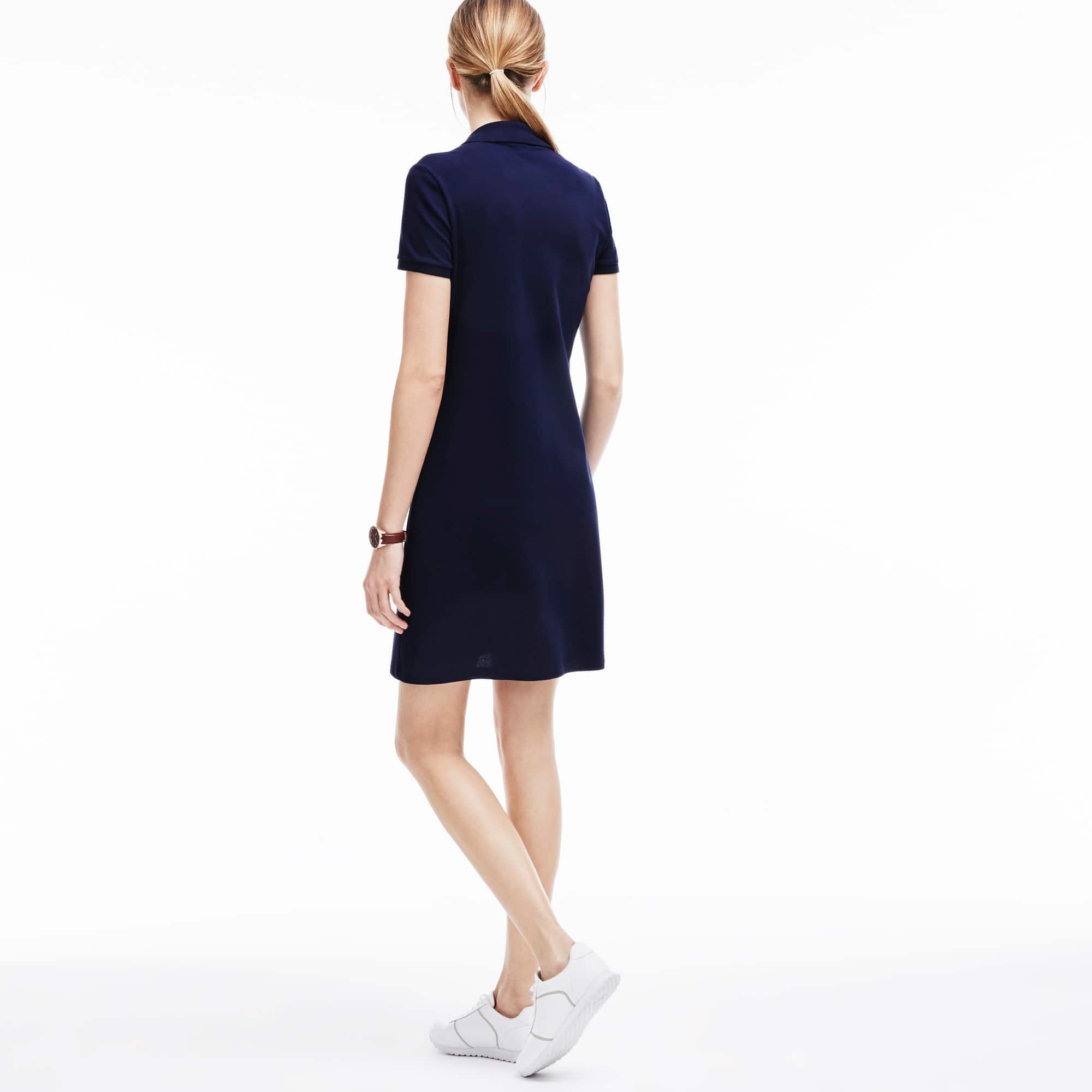 LACOSTE Cottons Women's Polo dress in stretch mini piqué