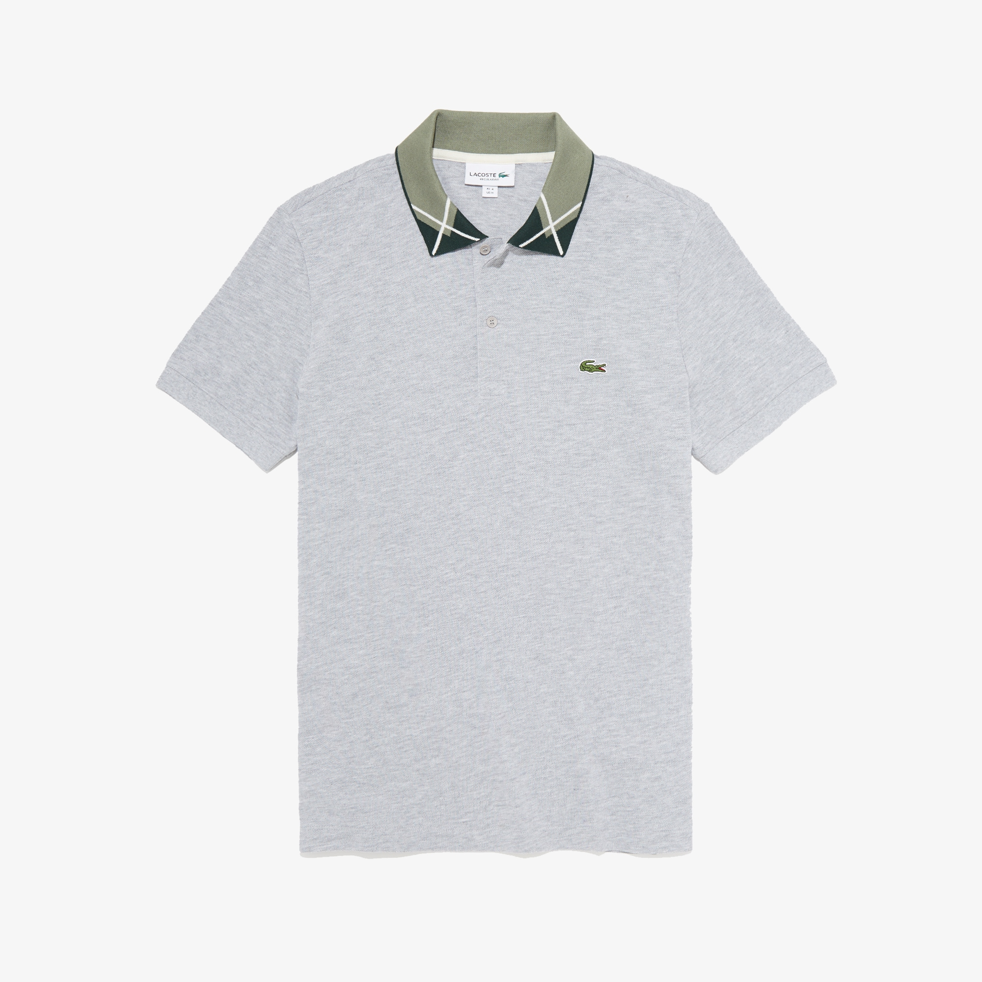 Lacoste Tops Men's Regular Fit Jacquard-Collar Cotton Piqué Polo Shirt