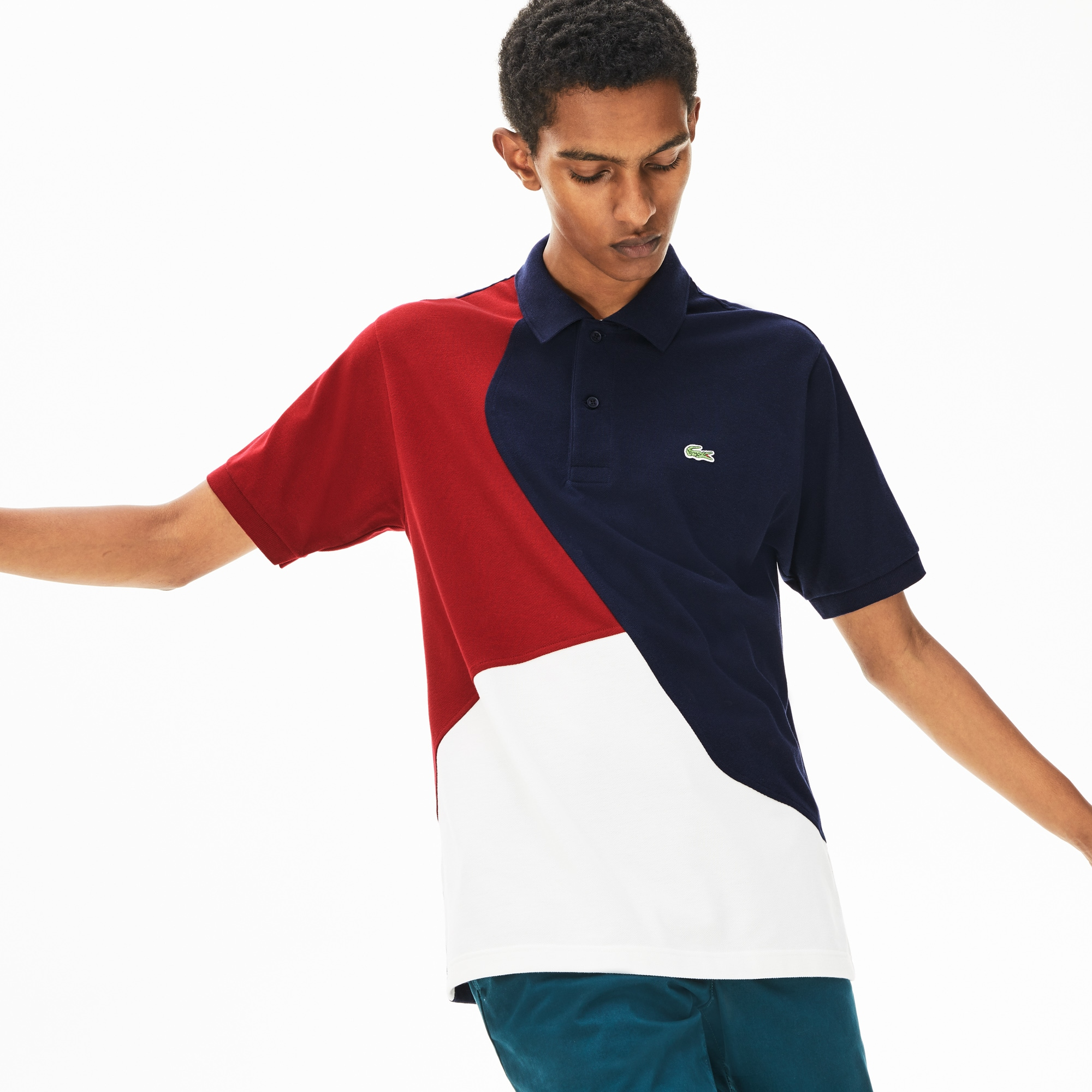 Lacoste Tops Men's L.12.12 Color-Blocked Thermoregulating Piqué Polo