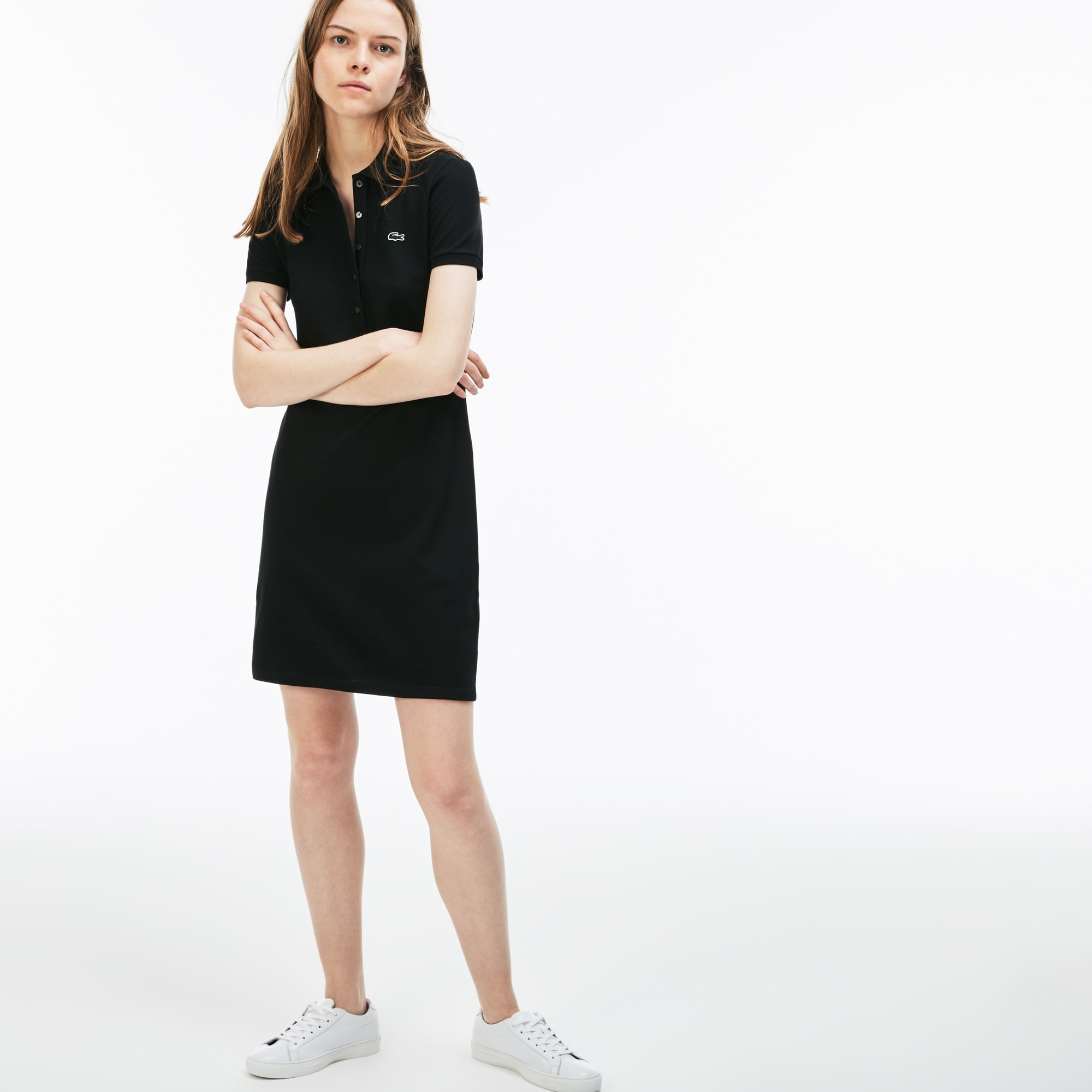 fee8f1a83 + 1 color + 4 colors. Women's Stretch Cotton Mini Piqué Polo Dress