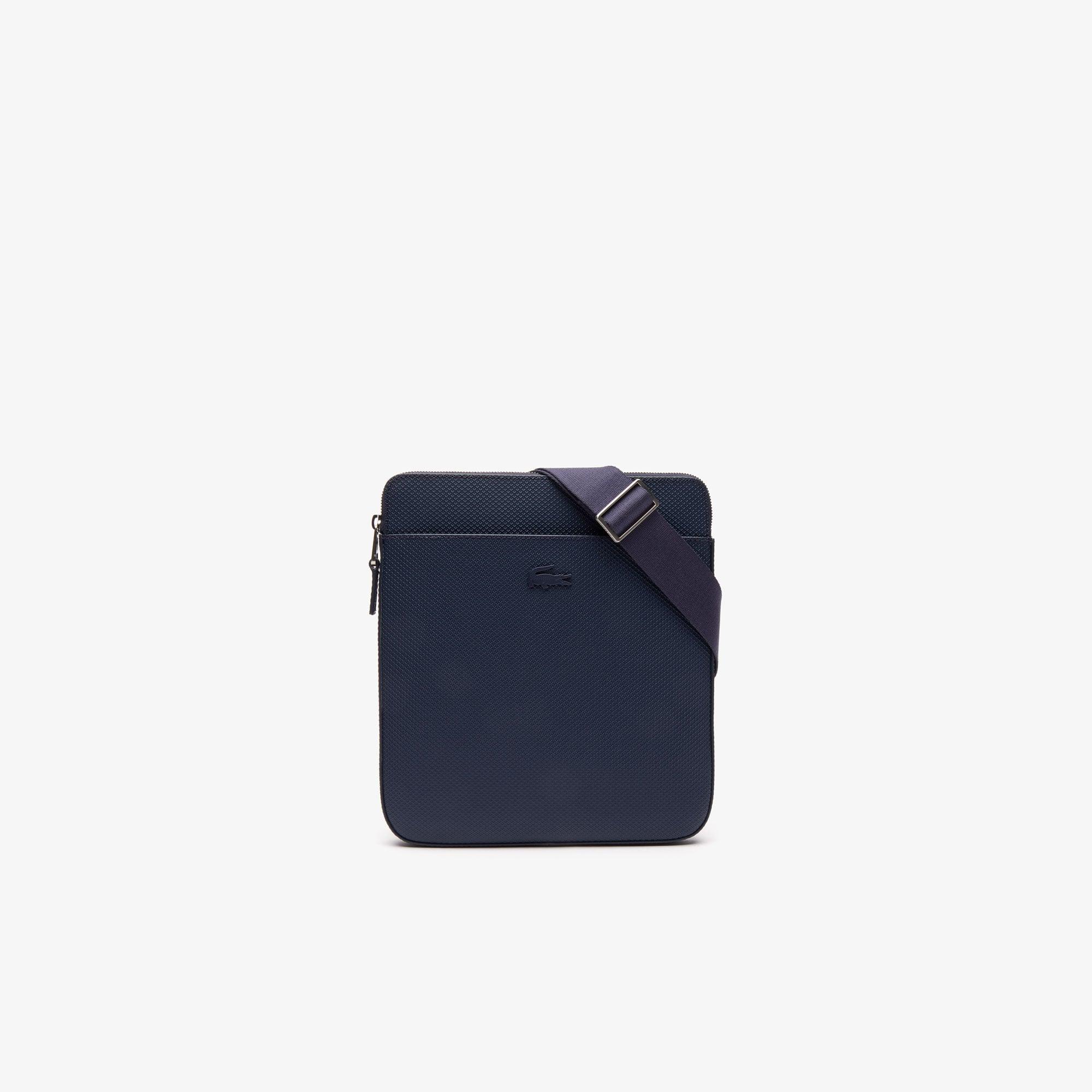 라코스테 샨타코 플랫 지퍼백 Lacoste Mens Chantaco Matte Leather Flat Zip Bag,PEACOAT