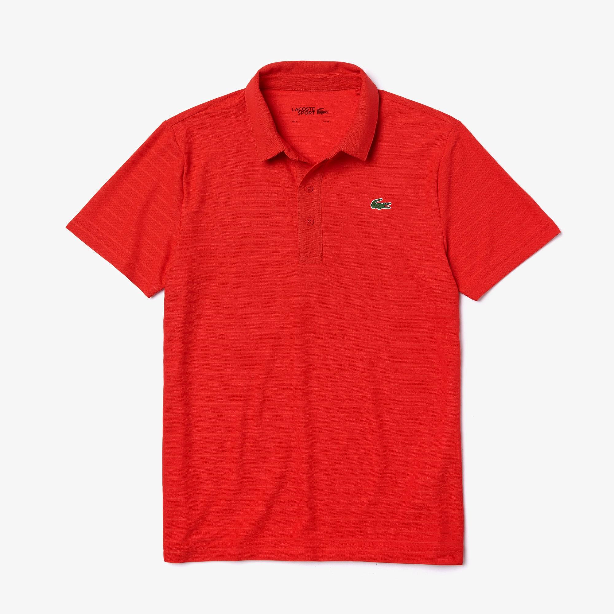 Lacoste Mens Sport Short Sleeve Jacquard Techincal Polo Shirt