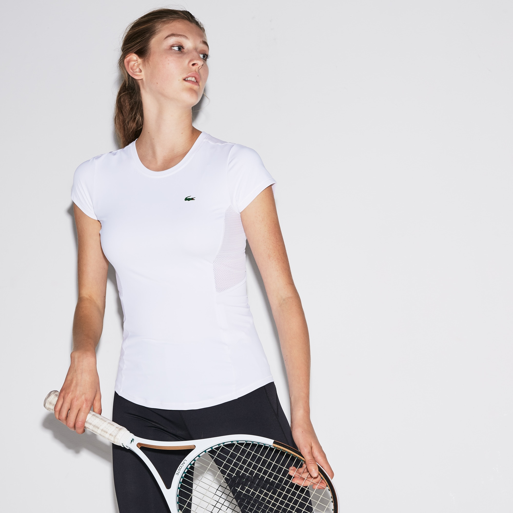 Women's SPORT Crew Neck Stretch Jersey Tennis T-shirt