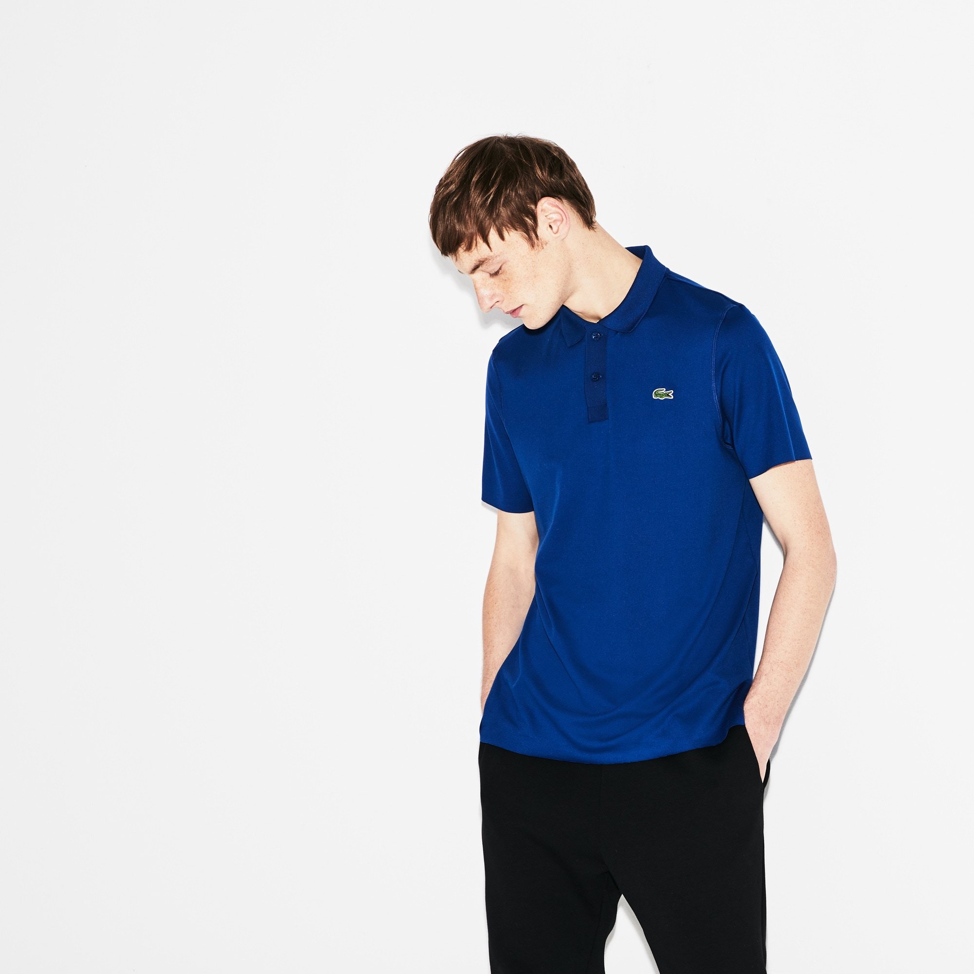 Men's SPORT Flecked Stretch Jersey Tennis Polo