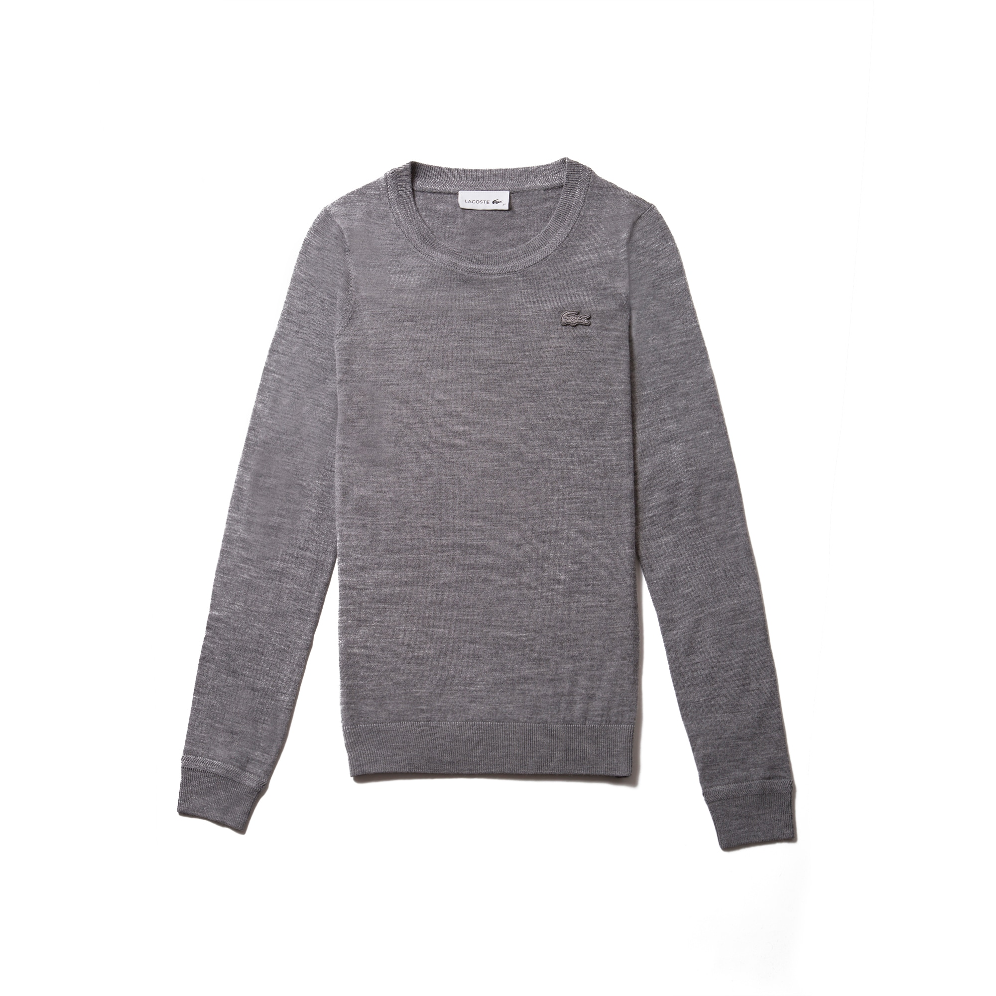 Women's Crew Neck Wool Jersey Sweater