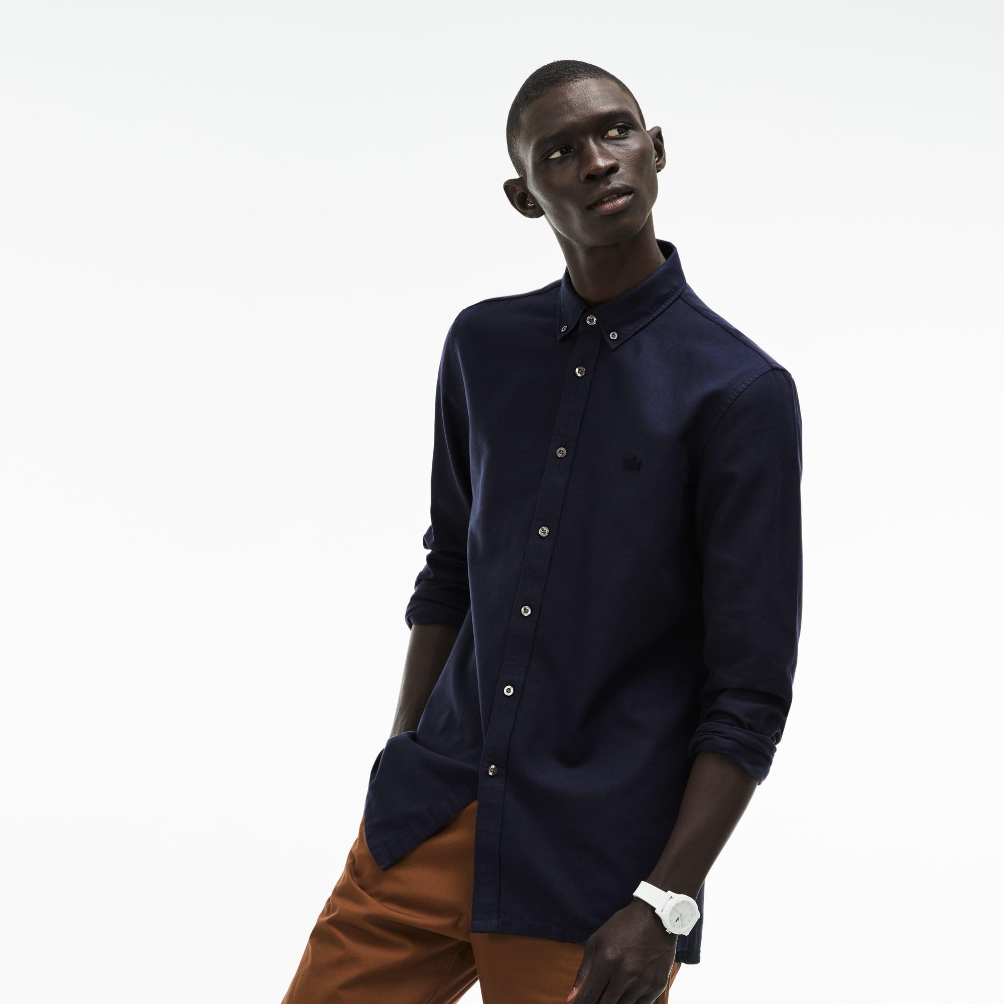 Men's Slim Fit MOTION Cotton Piqué Shirt