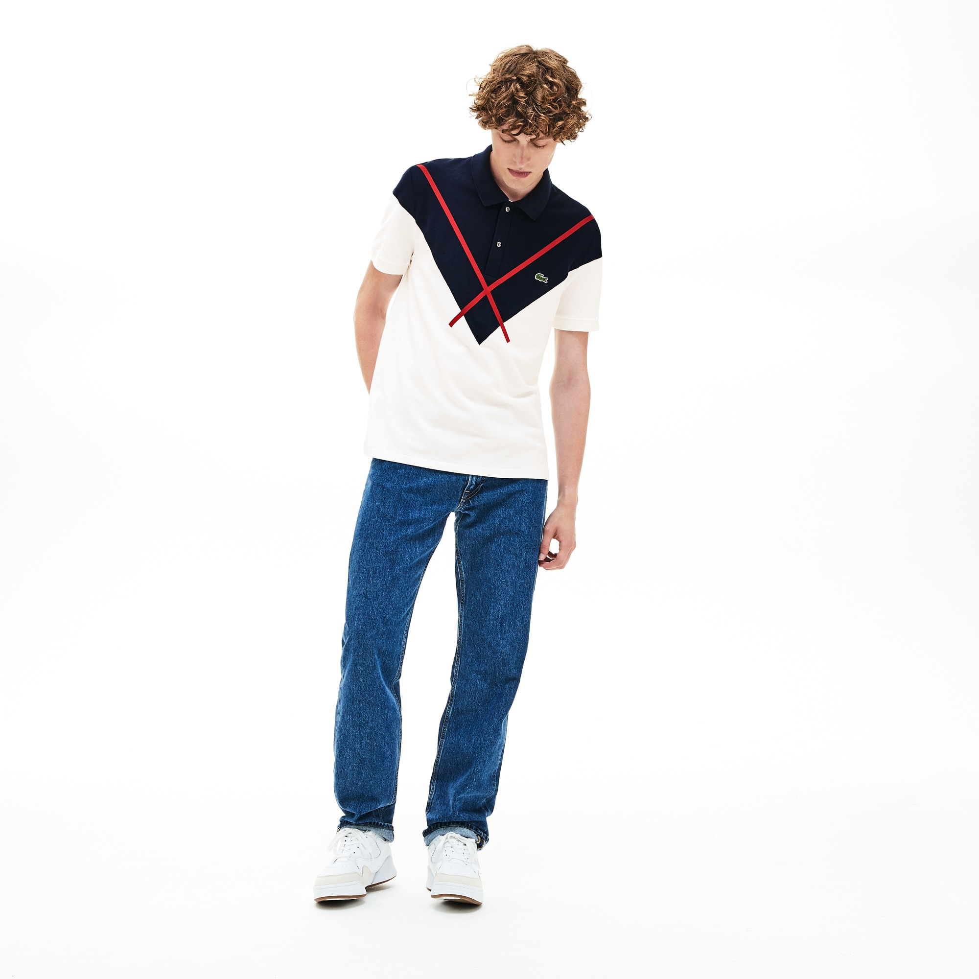 Men's Made In France Jacquard Cotton Piqué Polo Shirt
