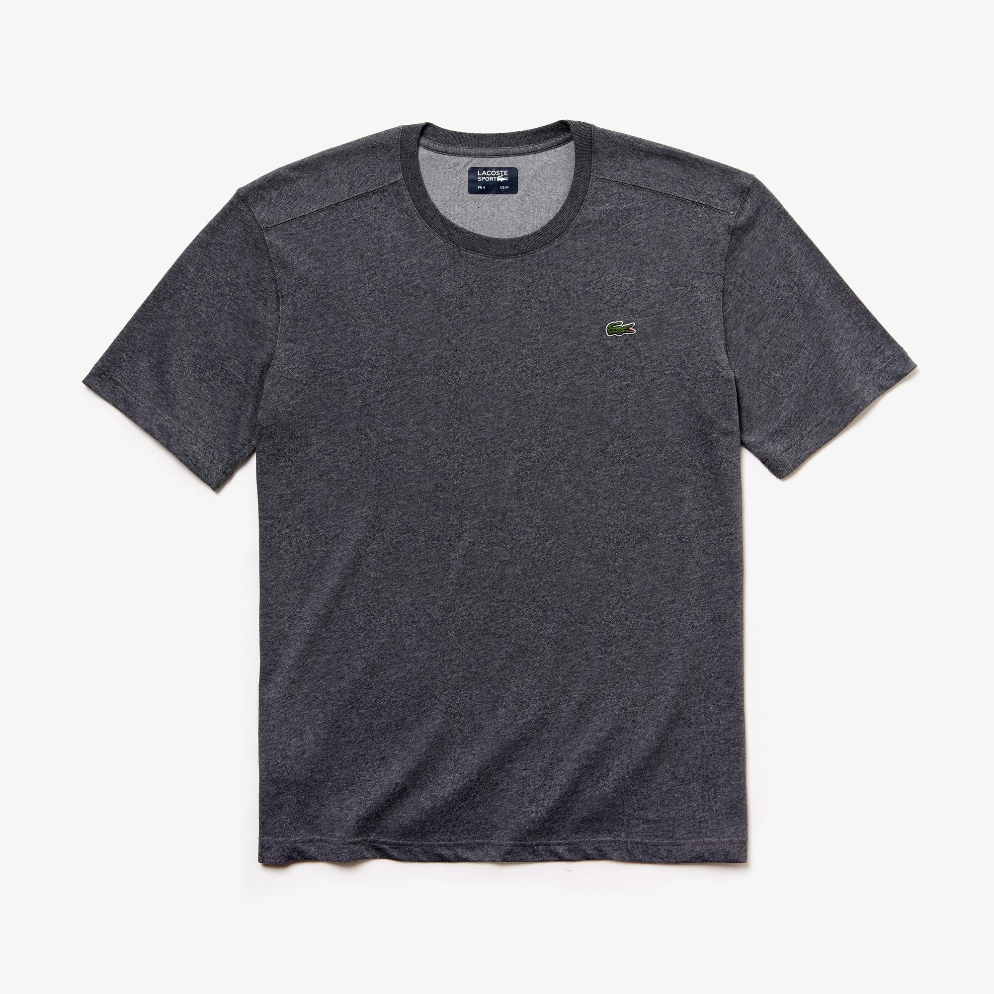 라코스테 Lacoste Mens SPORT Crew Neck Tennis T-Shirt,grey chine