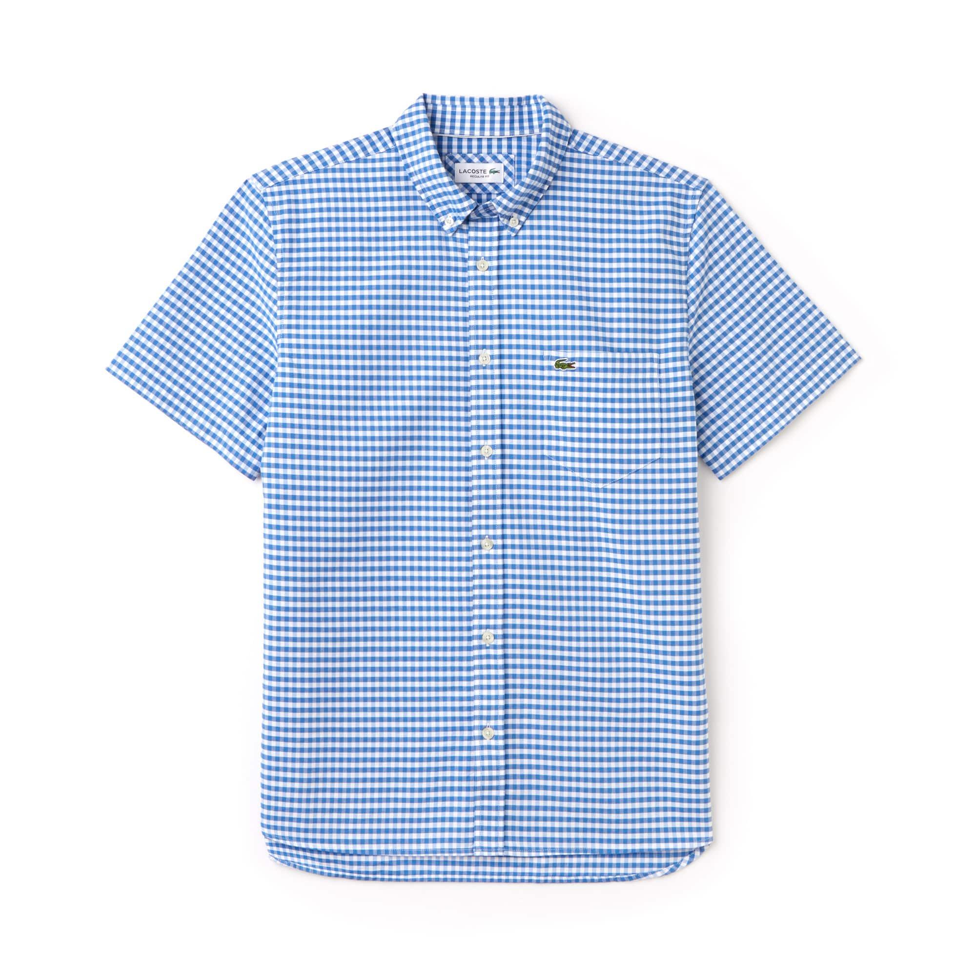 Men's Regular Fit Mini Check Oxford Shirt