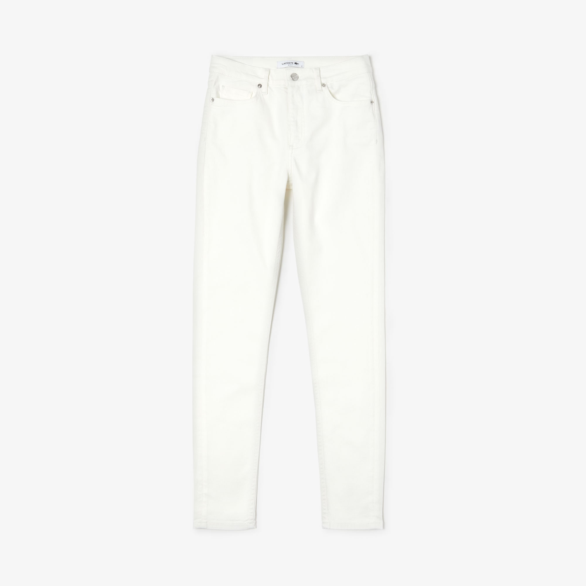 라코스테 Lacoste Womens Skinny fit jeans in stretch cotton,white