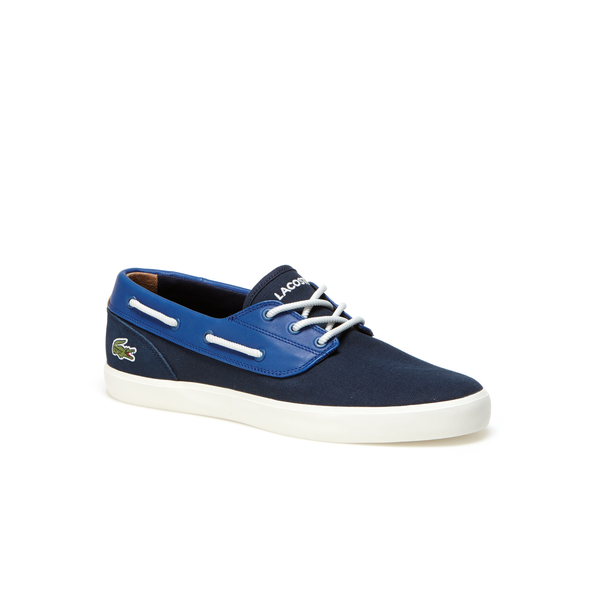 Men's Jouer Canvas And Leather Boat Shoes