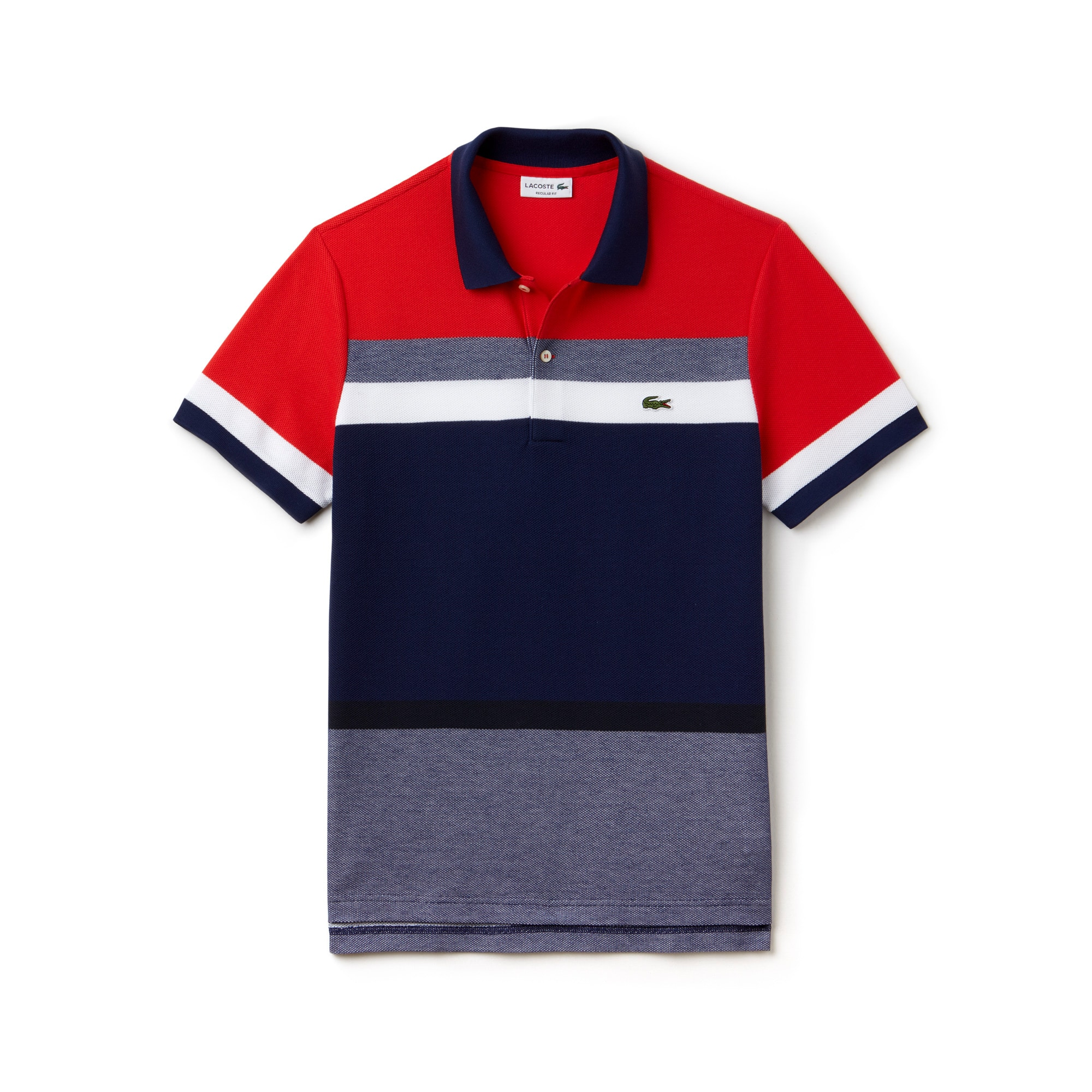 Men's Regular Fit Piqué Colorblock Polo Shirt