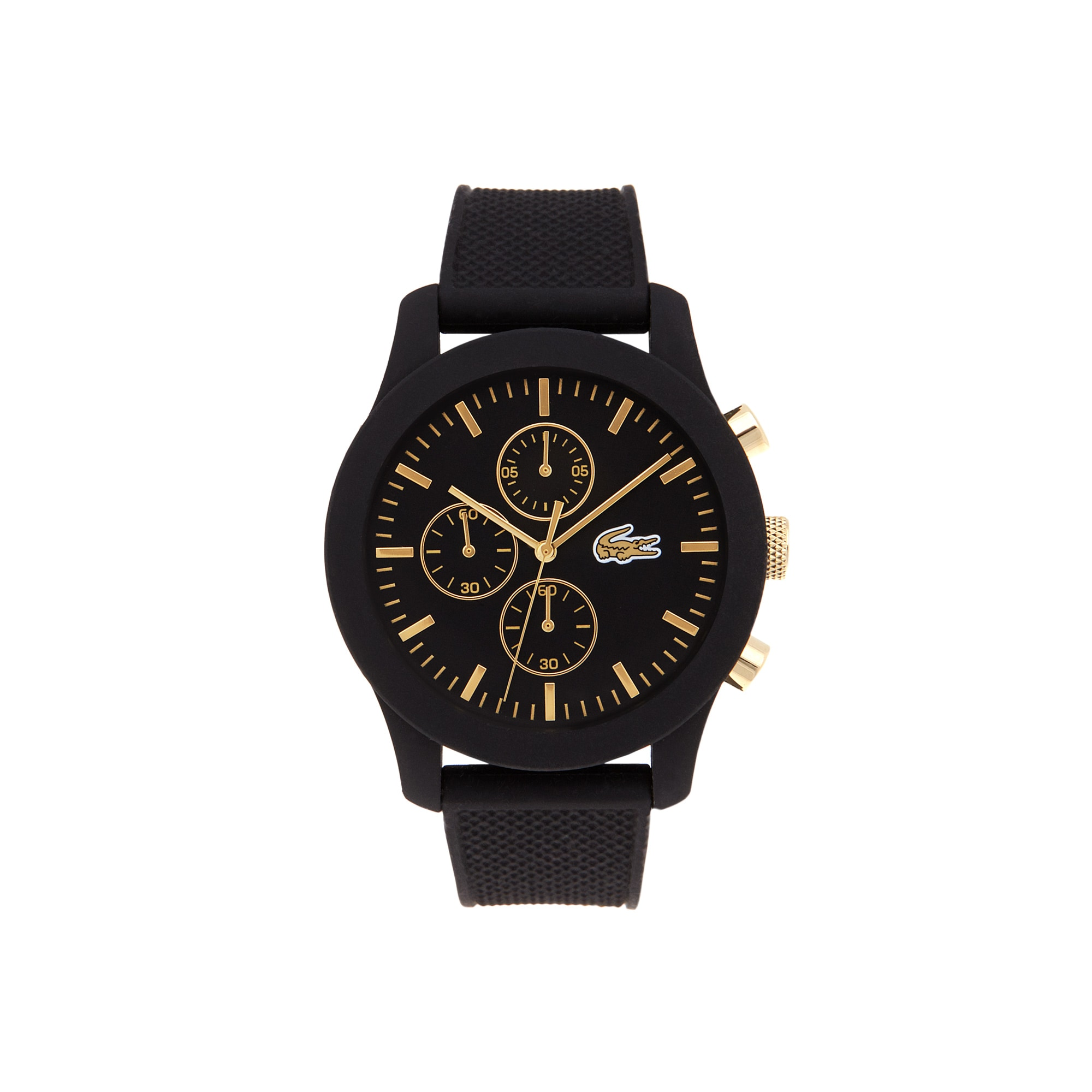 4cd33bdf5b2d Unisex Lacoste.12.12 Black Chronograph Watch