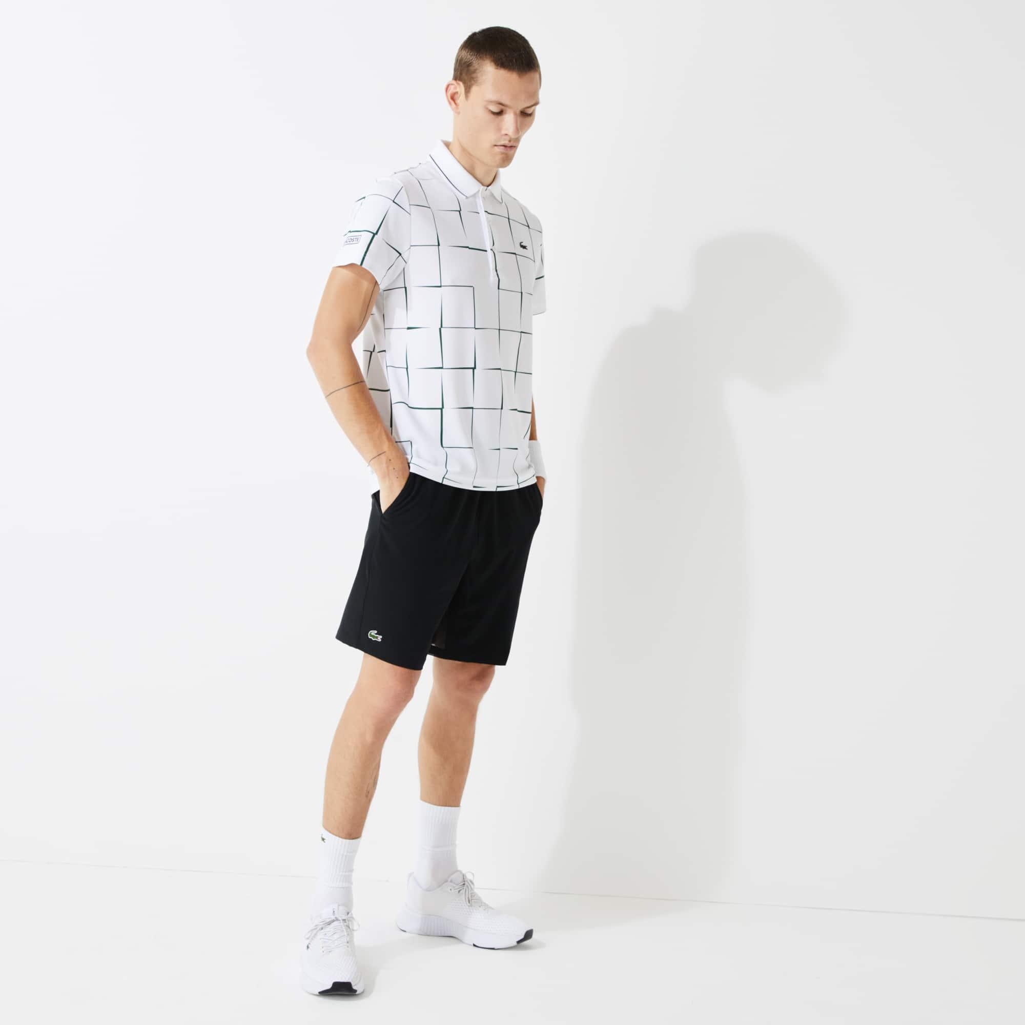 Lacoste Men's Sport Tennis Stretch Shorts In Black