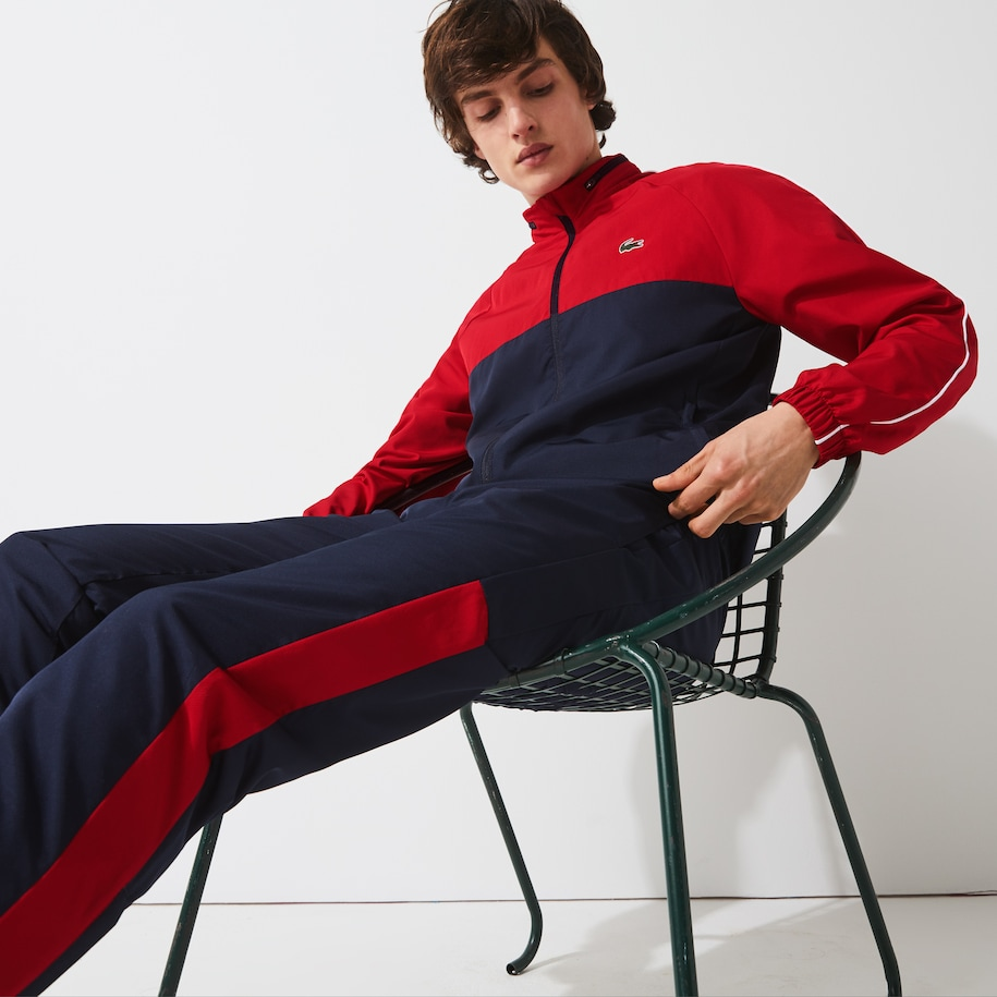 Men's Lacoste SPORT Hooded Bicolour Tennis Tracksuit