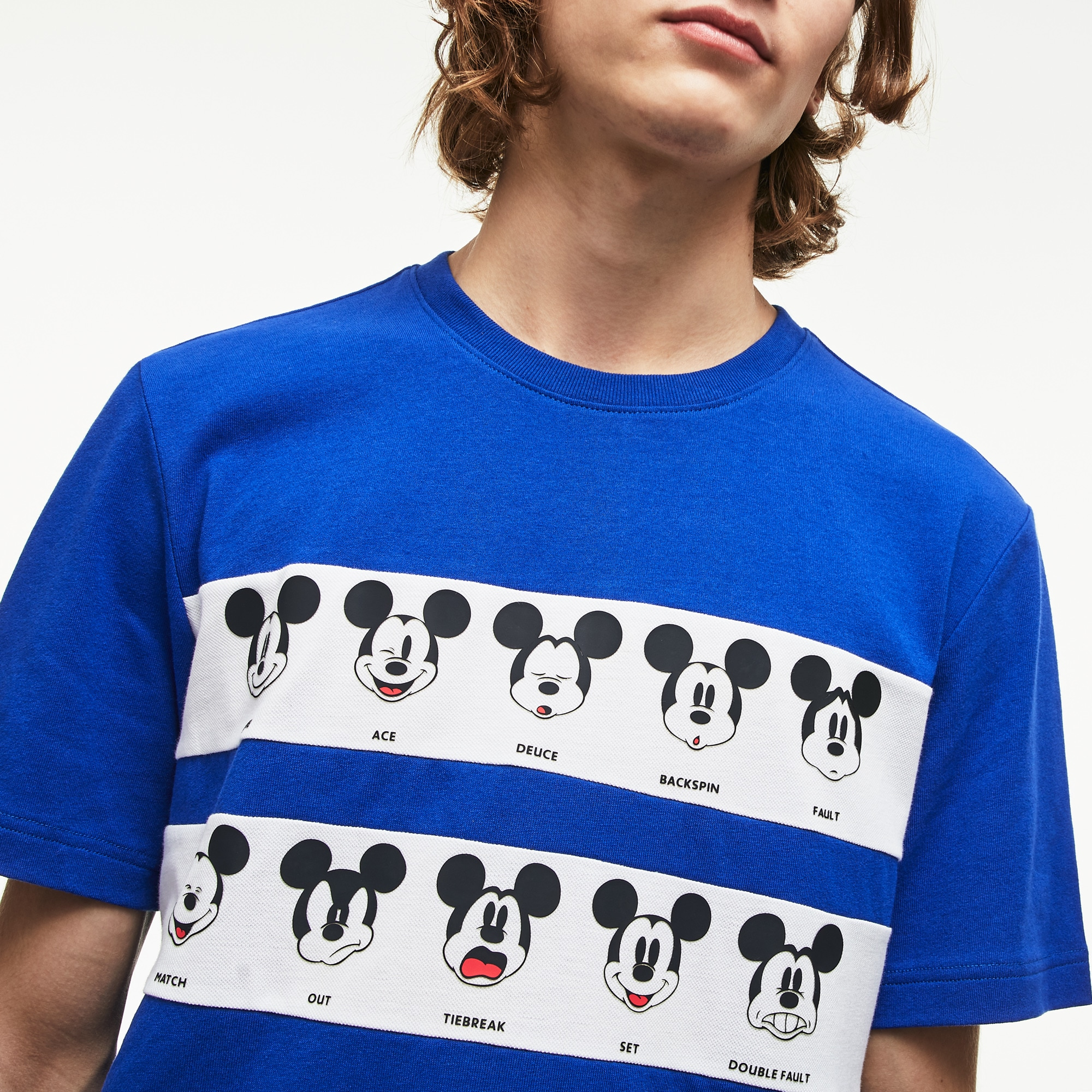 Men's Disney Mickey Graphic Band Cotton Jersey T-shirt