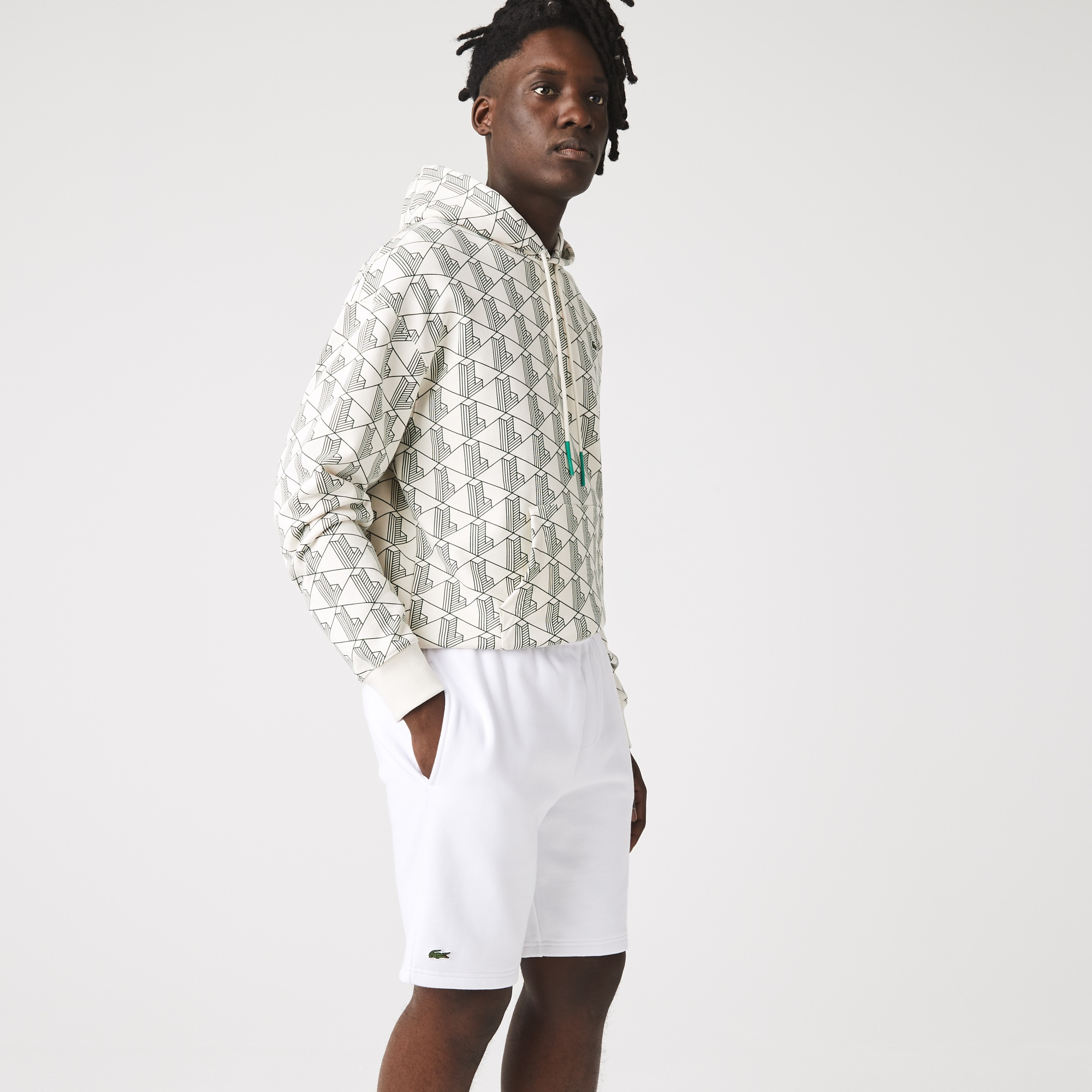 라코스테 Lacoste Mens SPORT Tennis Fleece Shorts