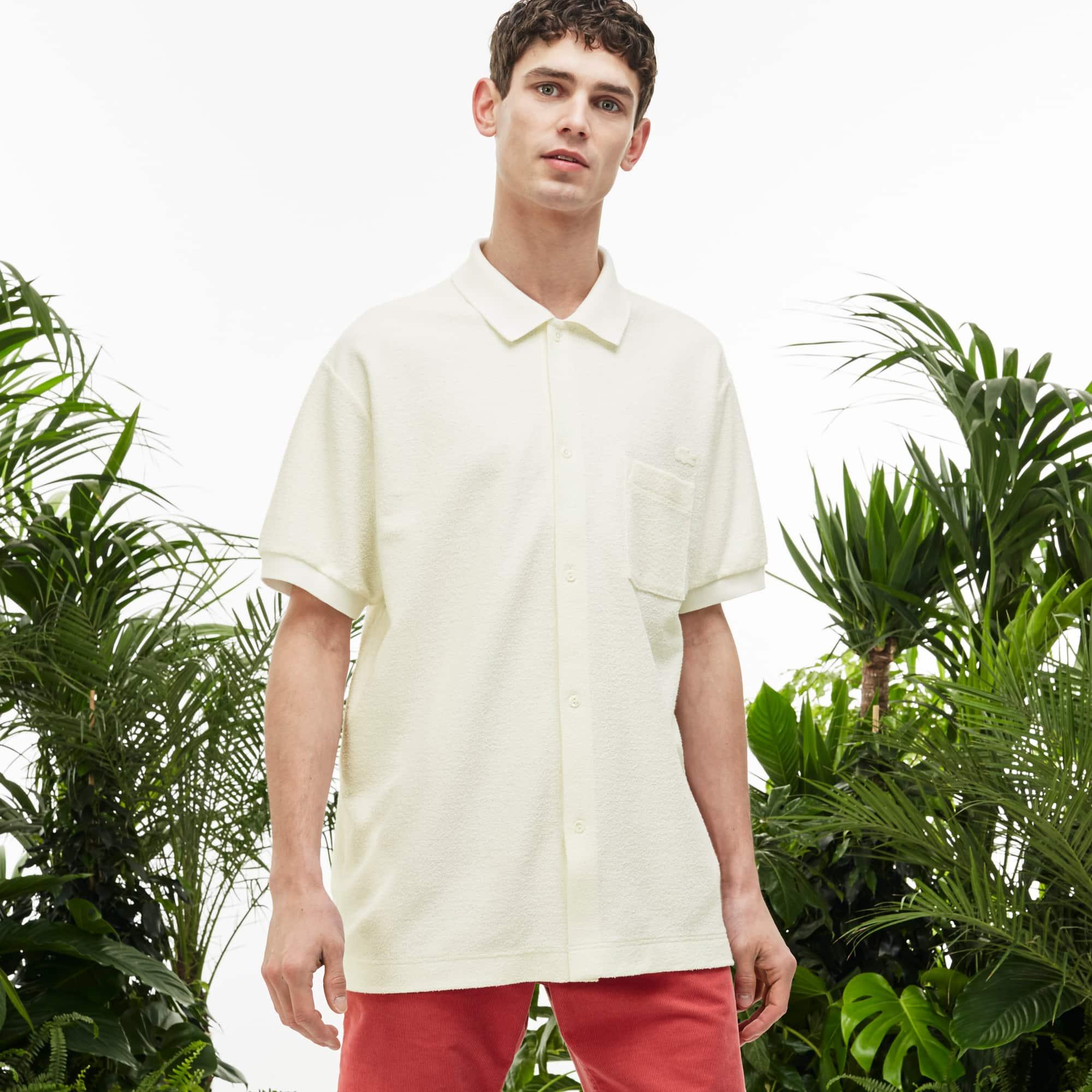 Men's Fashion Show Terrycloth Buttoned Polo Shirt