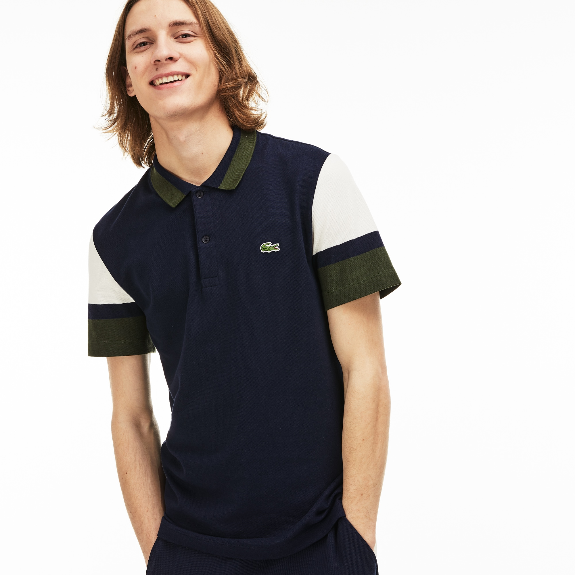 Men's Slim Fit Stretch Pima Polo Shirt
