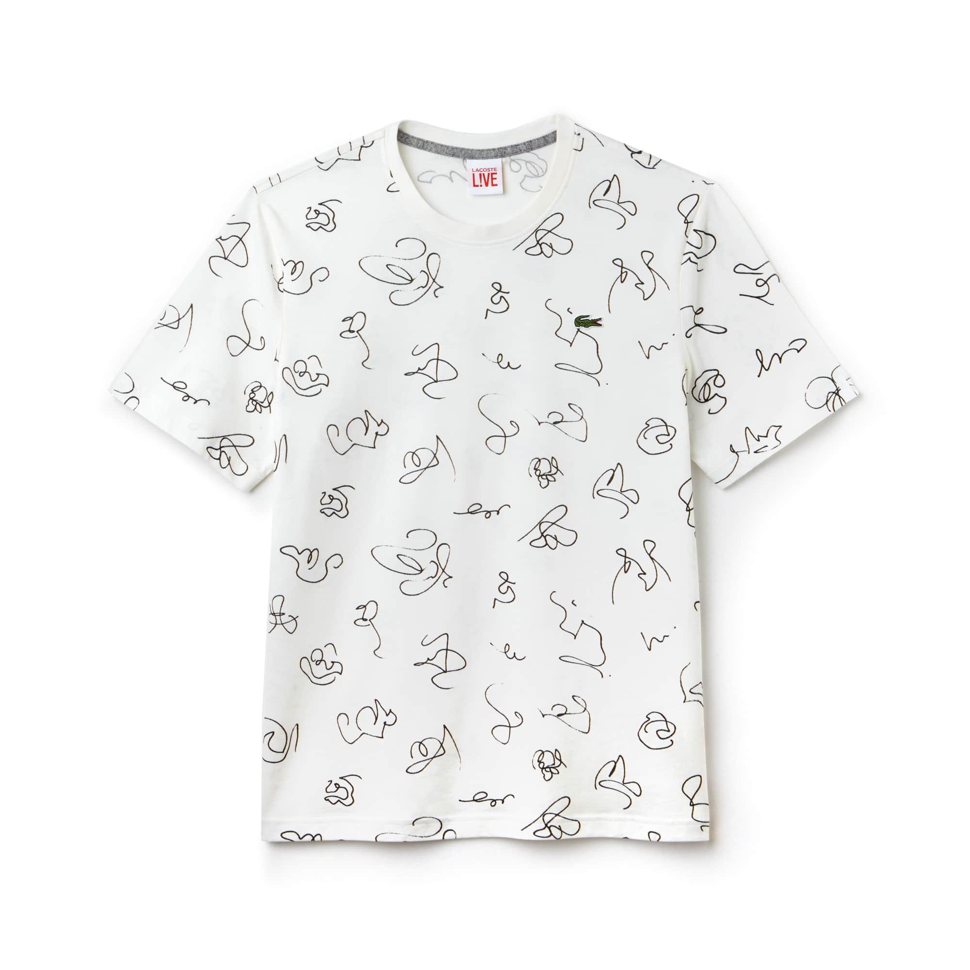 Men's LIVE Doodle Print T-Shirt