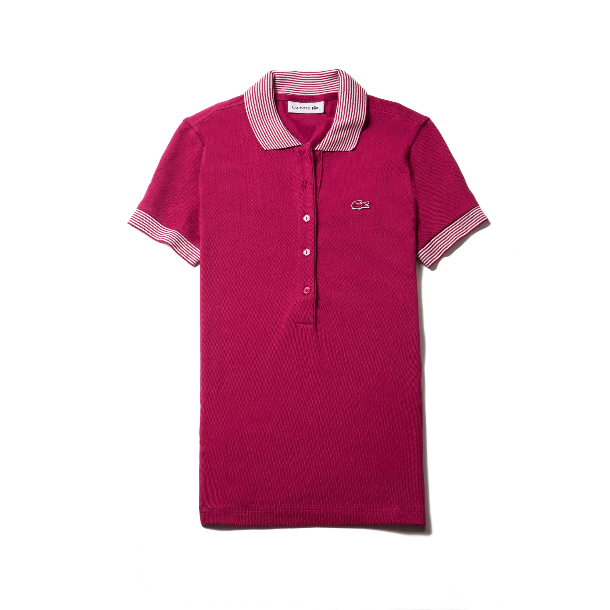 Women's  Slim Fit Contrast Accents Stretch Piqué Polo