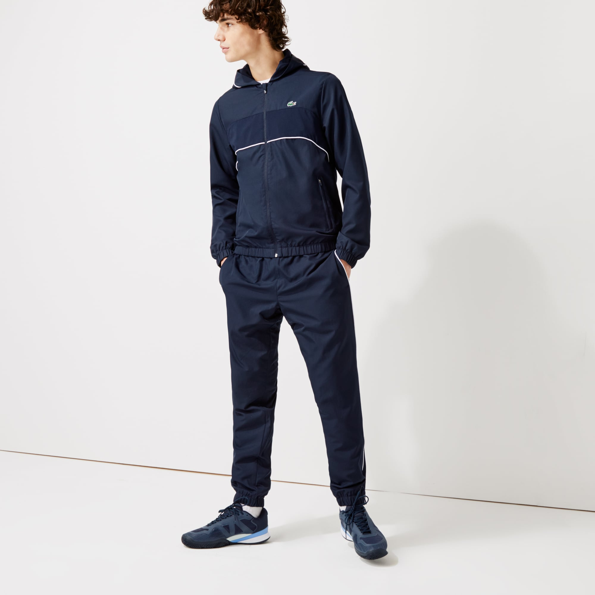 라코스테 Lacoste Men's SPORT Hooded Tennis Tracksuit