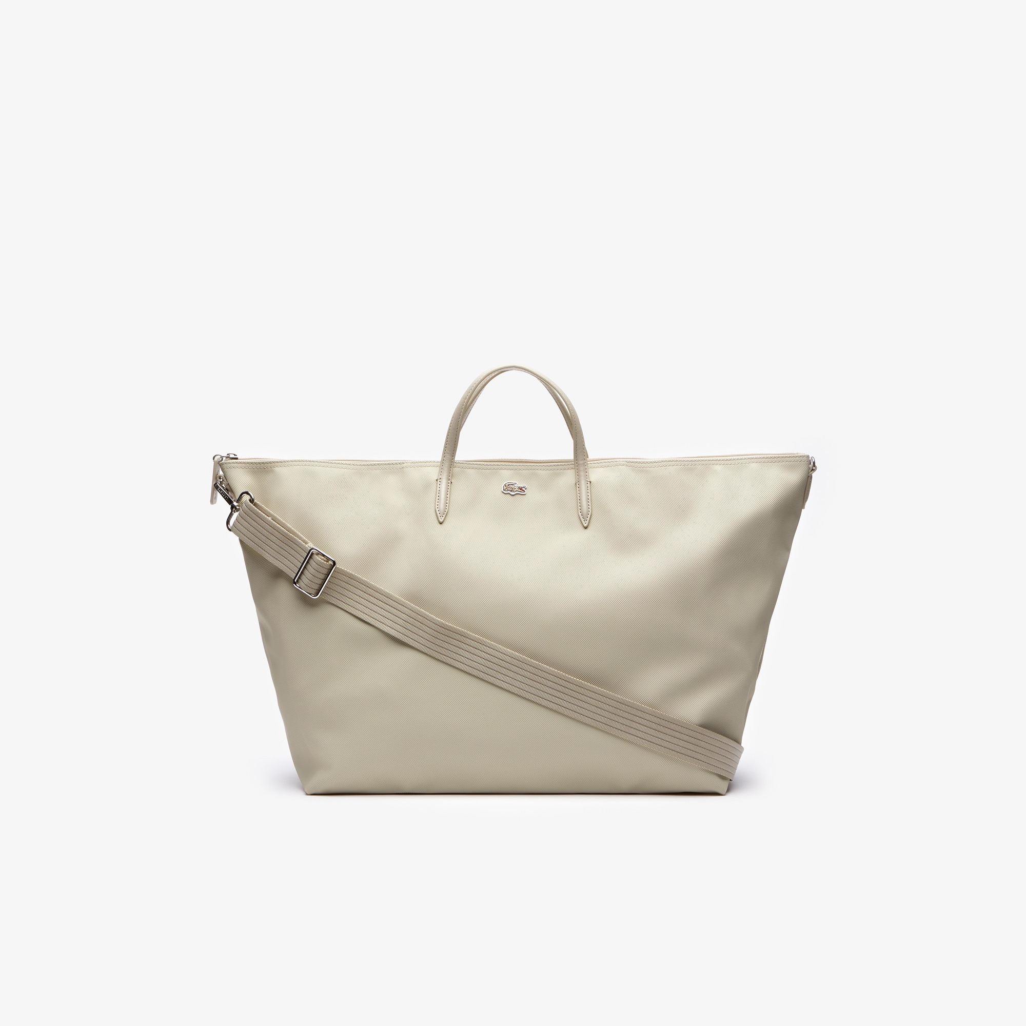 라코스테 Lacoste Womens L.12.12 Concept Weekend Tote Bag,feather gray