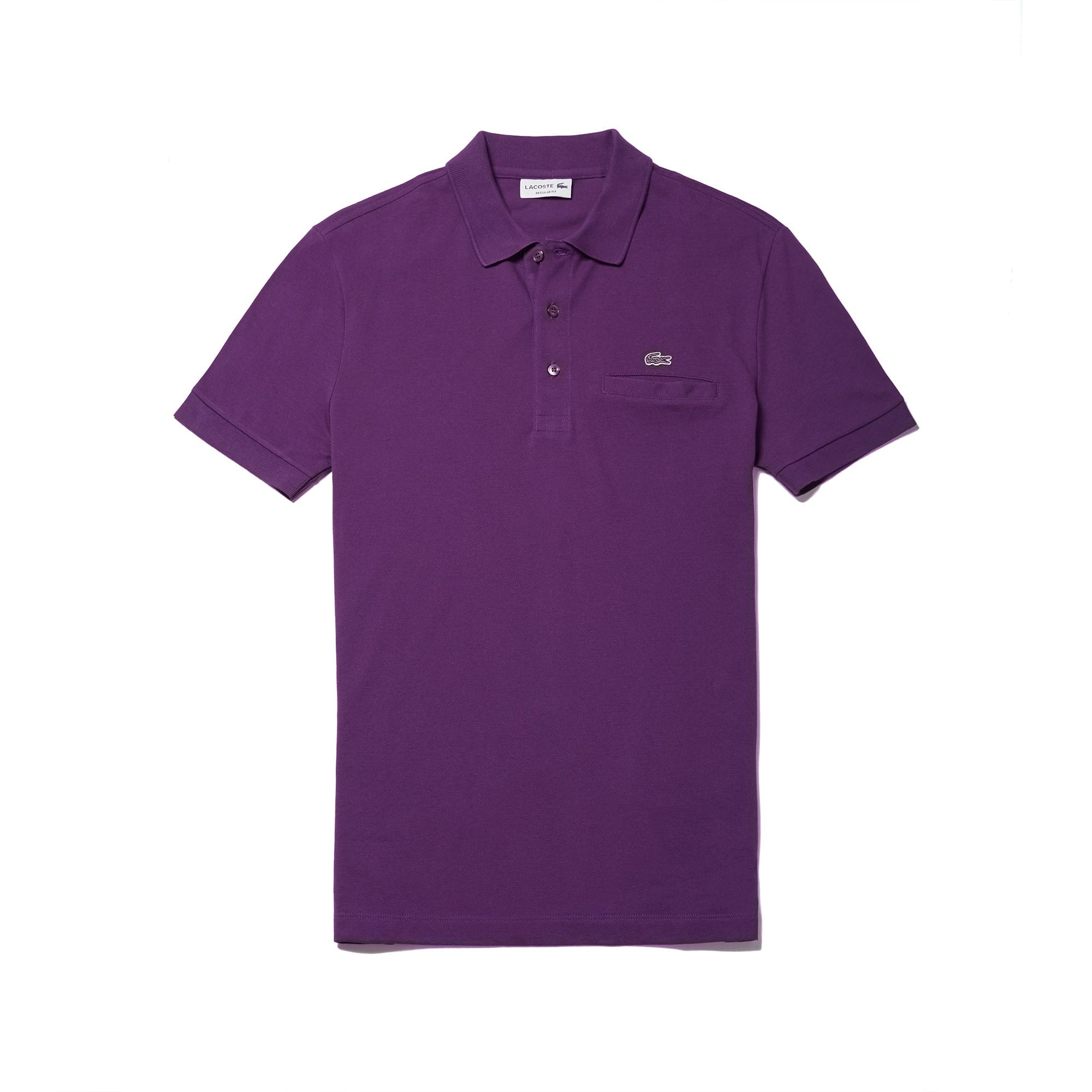 Men's Regular Piqué Pocket Polo