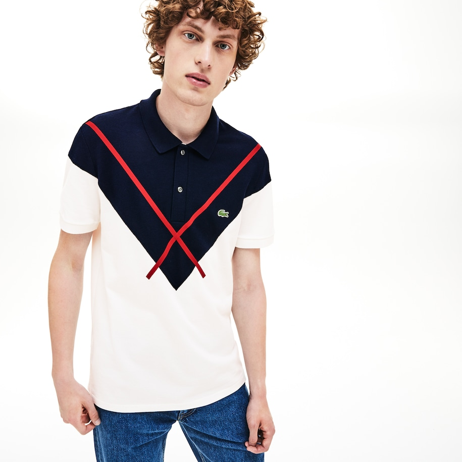 Polo Made In France regular fit con diseño Jacquard oversized en piqué de algodón para hombre