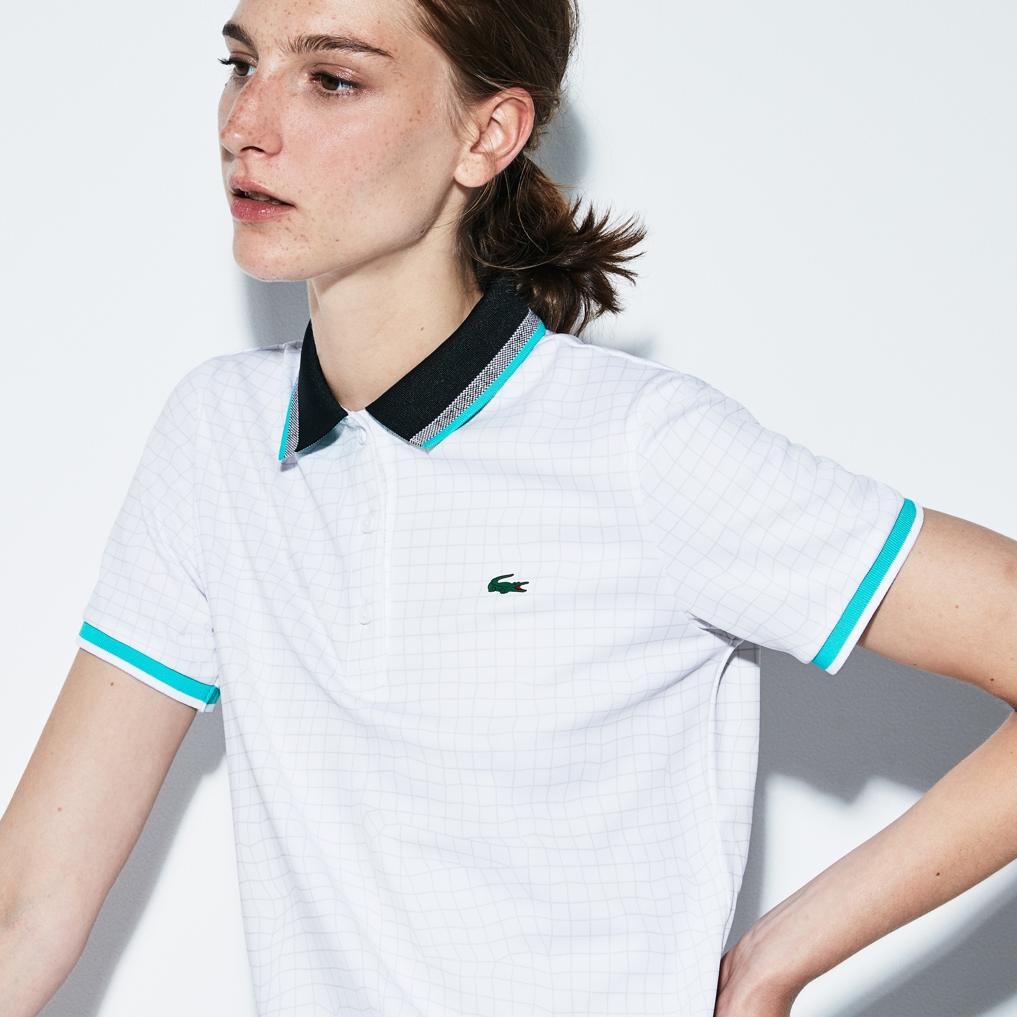 Women's SPORT Net Print Technical Piqué Tennis Polo