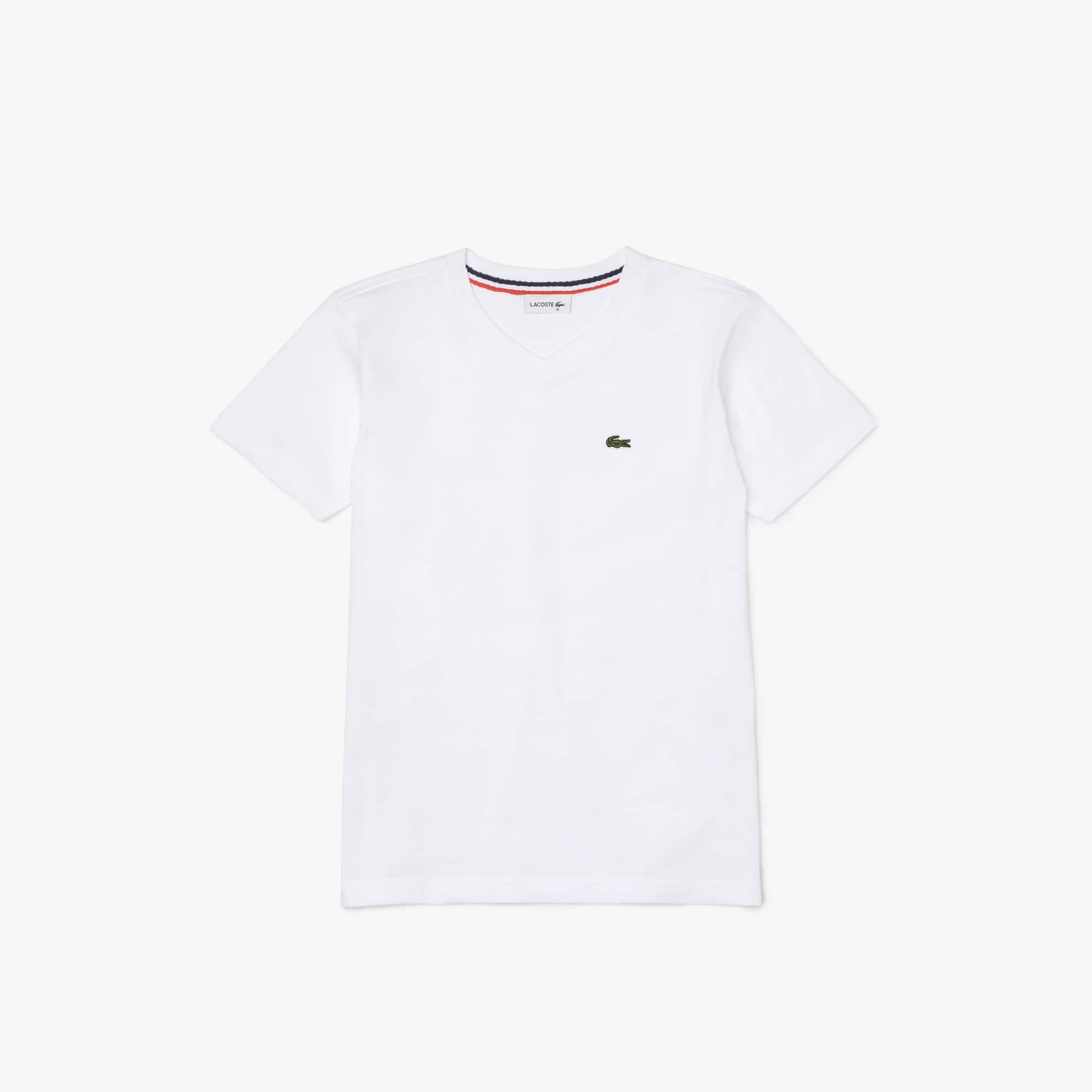 Boys' V-Neck Cotton T-shirt
