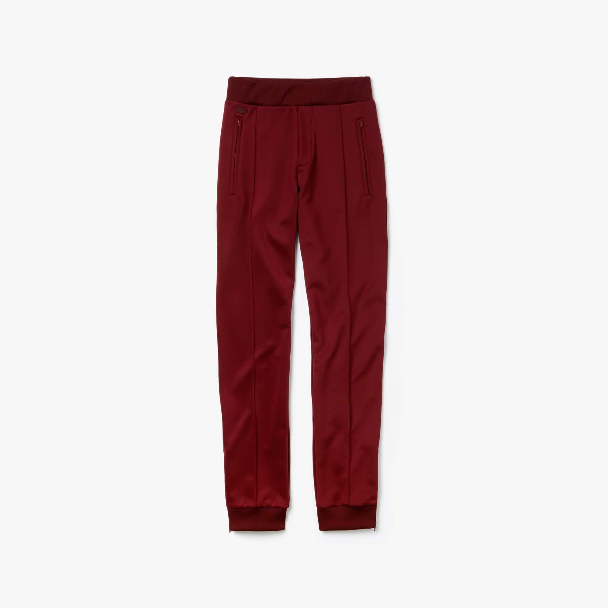 라코스테 Lacoste Womens High Waisted Fashion Sweatpants,bordeaux