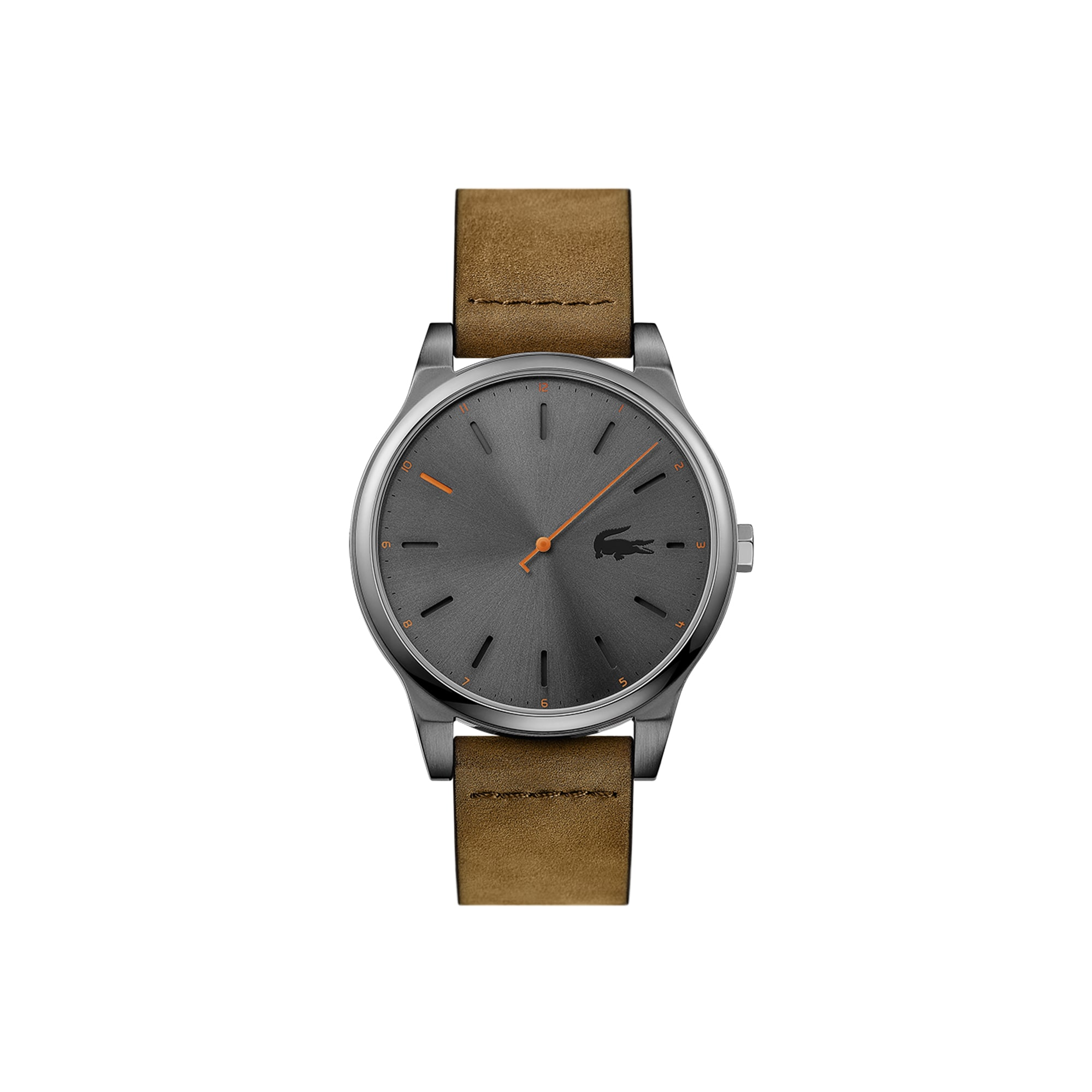 라코스테 가죽 시계 Lacoste Mens Kyoto Watch with Brown Leather Strap,Brown