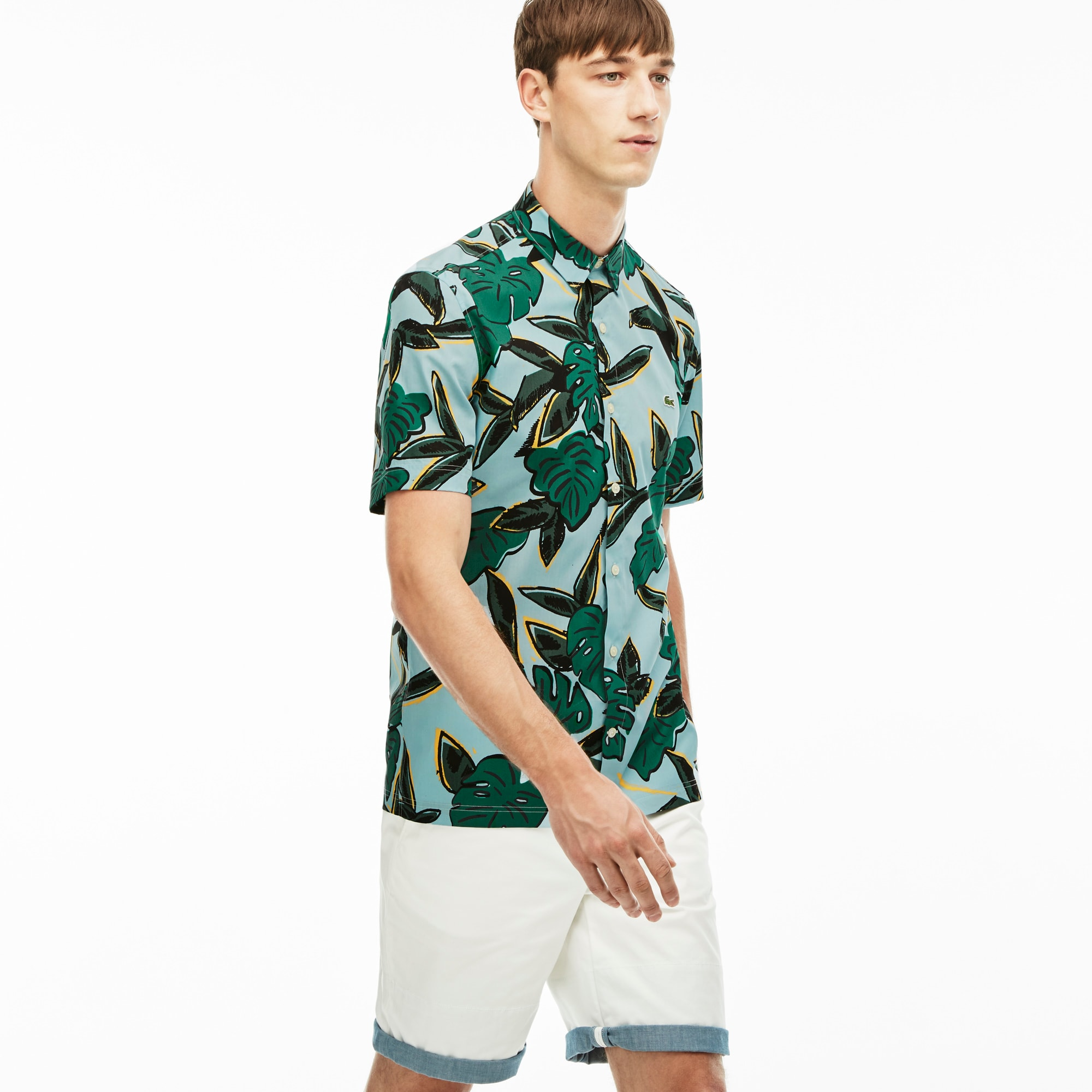 Men's L!VE Slim Fit Tropical Print Shirt