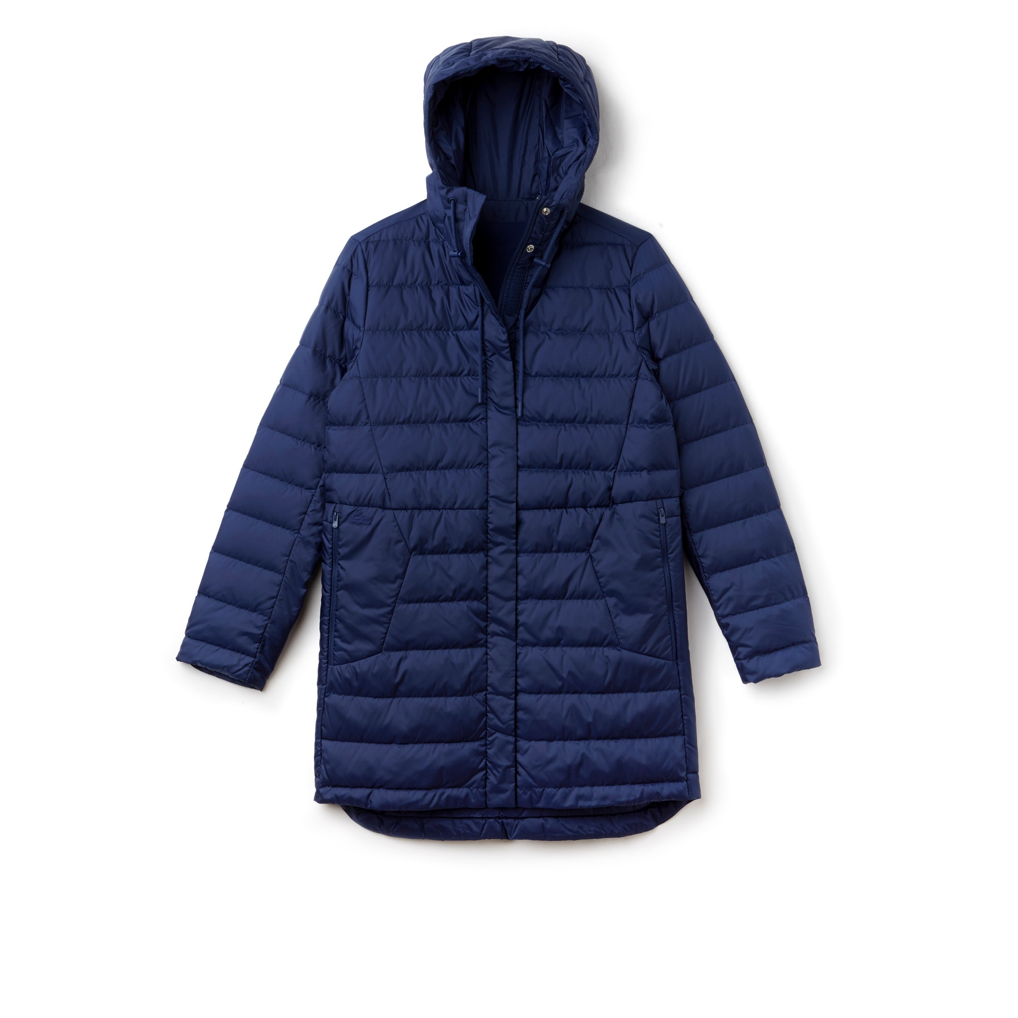 Women's Long Hooded Quilted Down Jacket | LACOSTE : quilted down jacket - Adamdwight.com