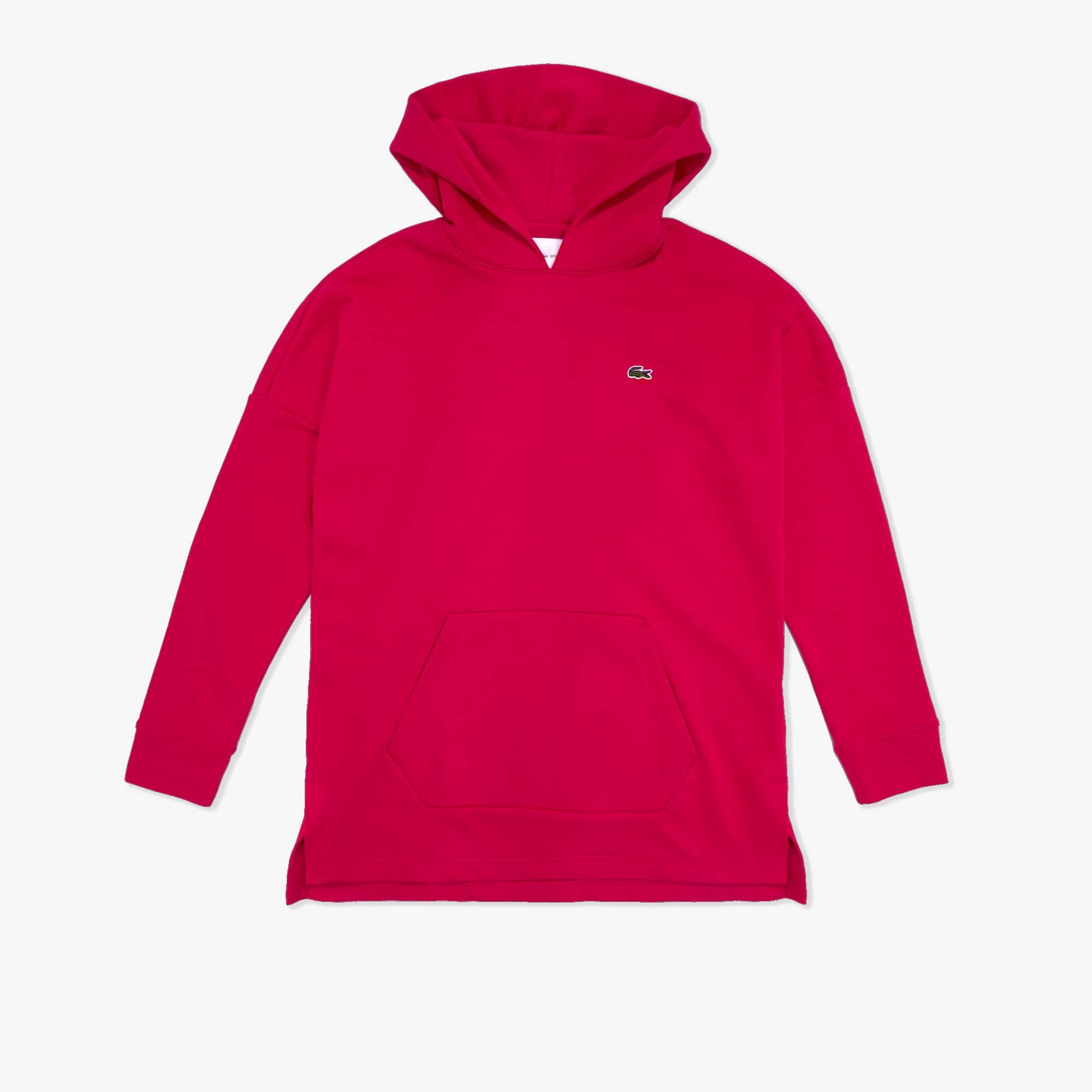 라코스테 Lacoste Women's SPORT Fleece Sweatshirt Hoodie Dress,Fushia Pink