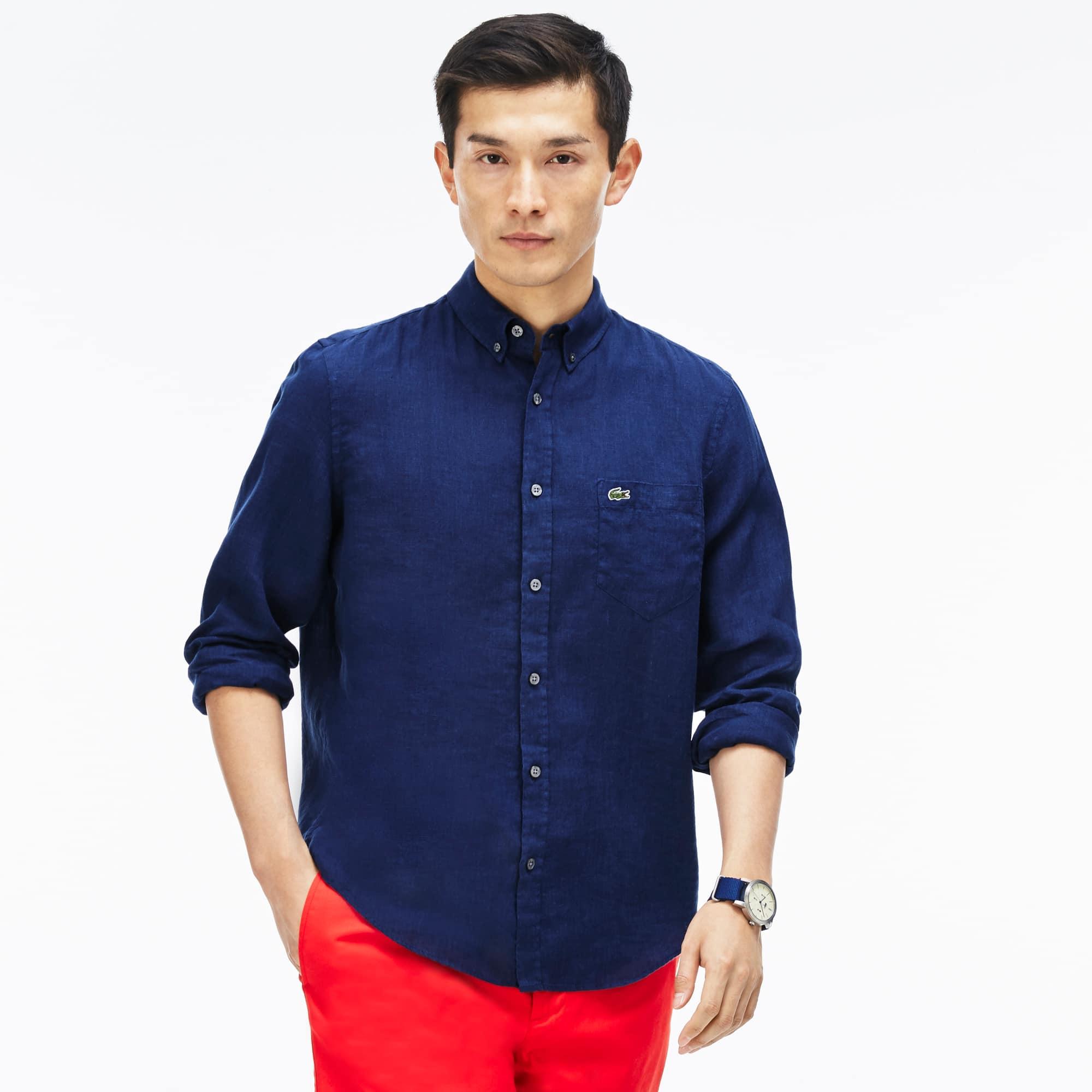 Men's Regular fit shirt in linen