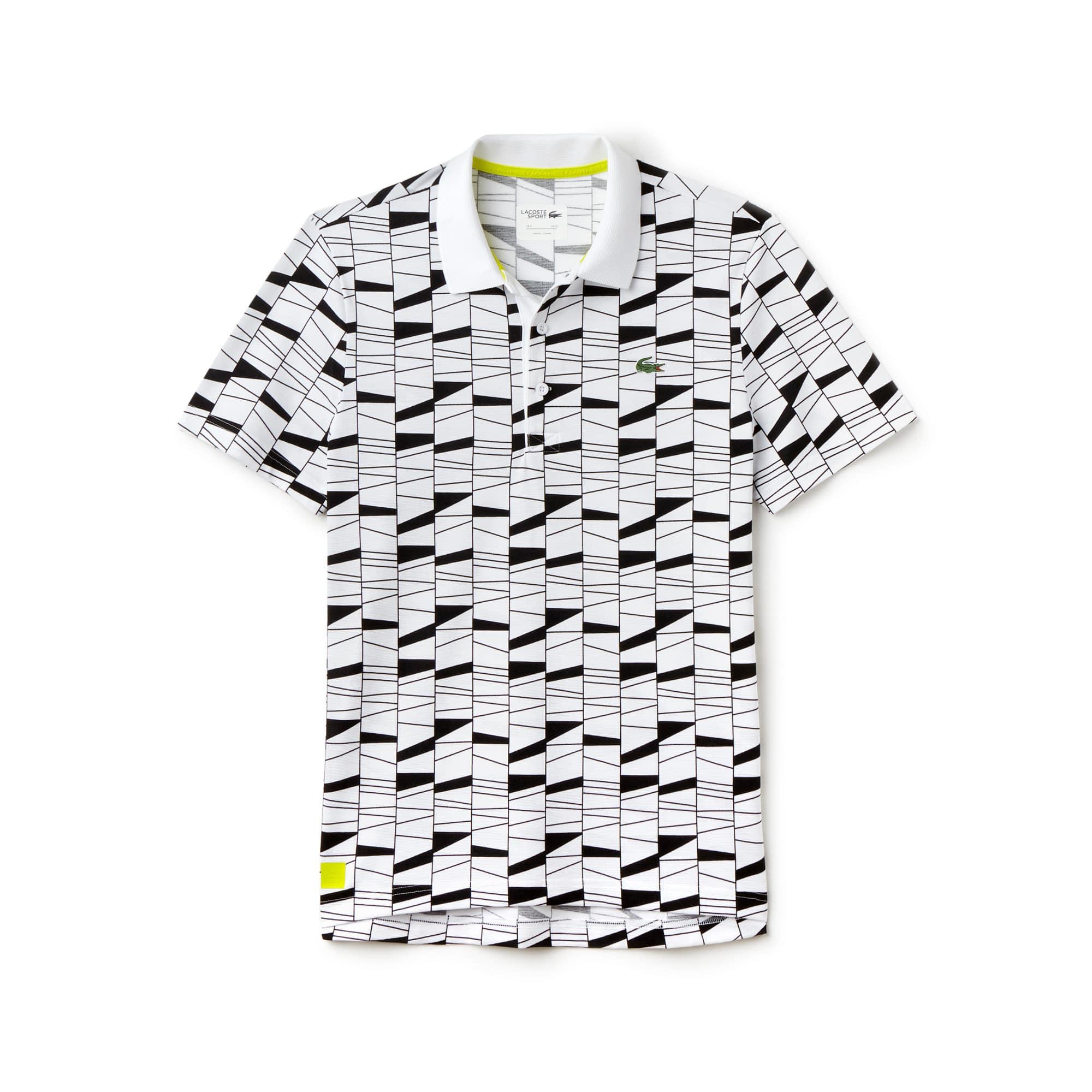 Men's SPORT Graphic Print Technical Knit Tennis Polo