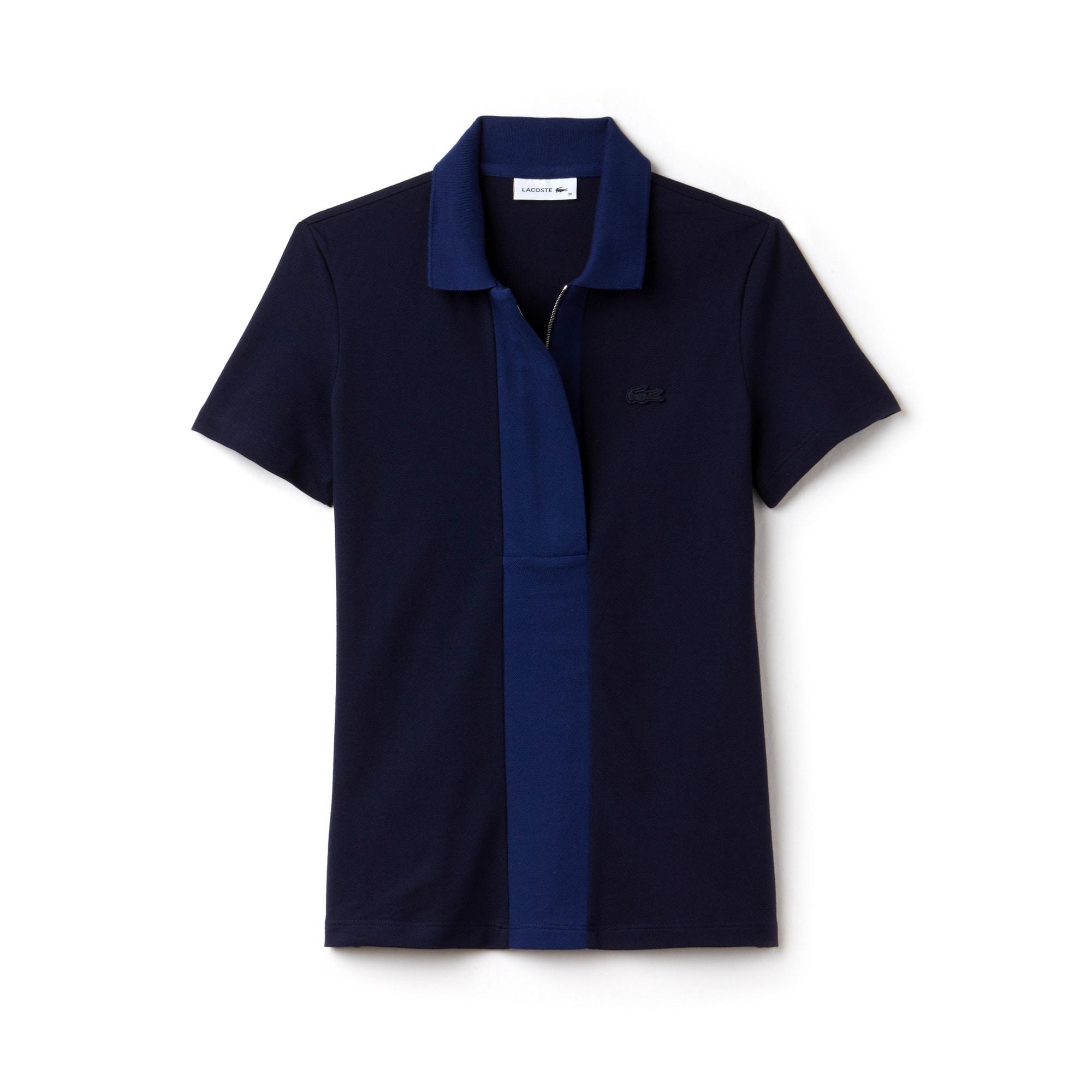 Women's  Slim Fit Colorblock Stretch Mini Cotton Piqué Polo