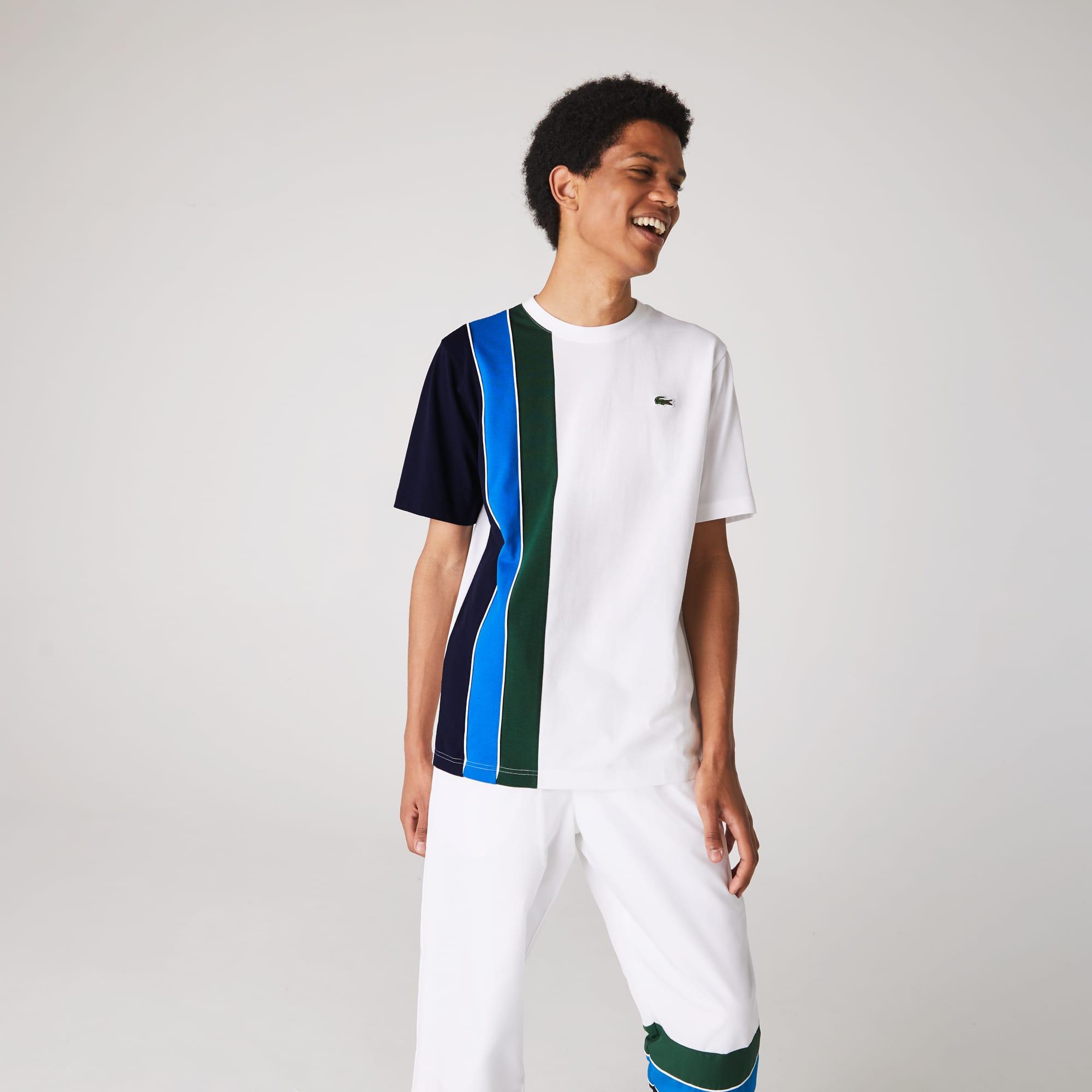 라코스테 스포츠 컬러블록 패널 경량 티셔츠 Lacoste Mens SPORT Colorblock Paneled Lightweight Cotton T-shirt