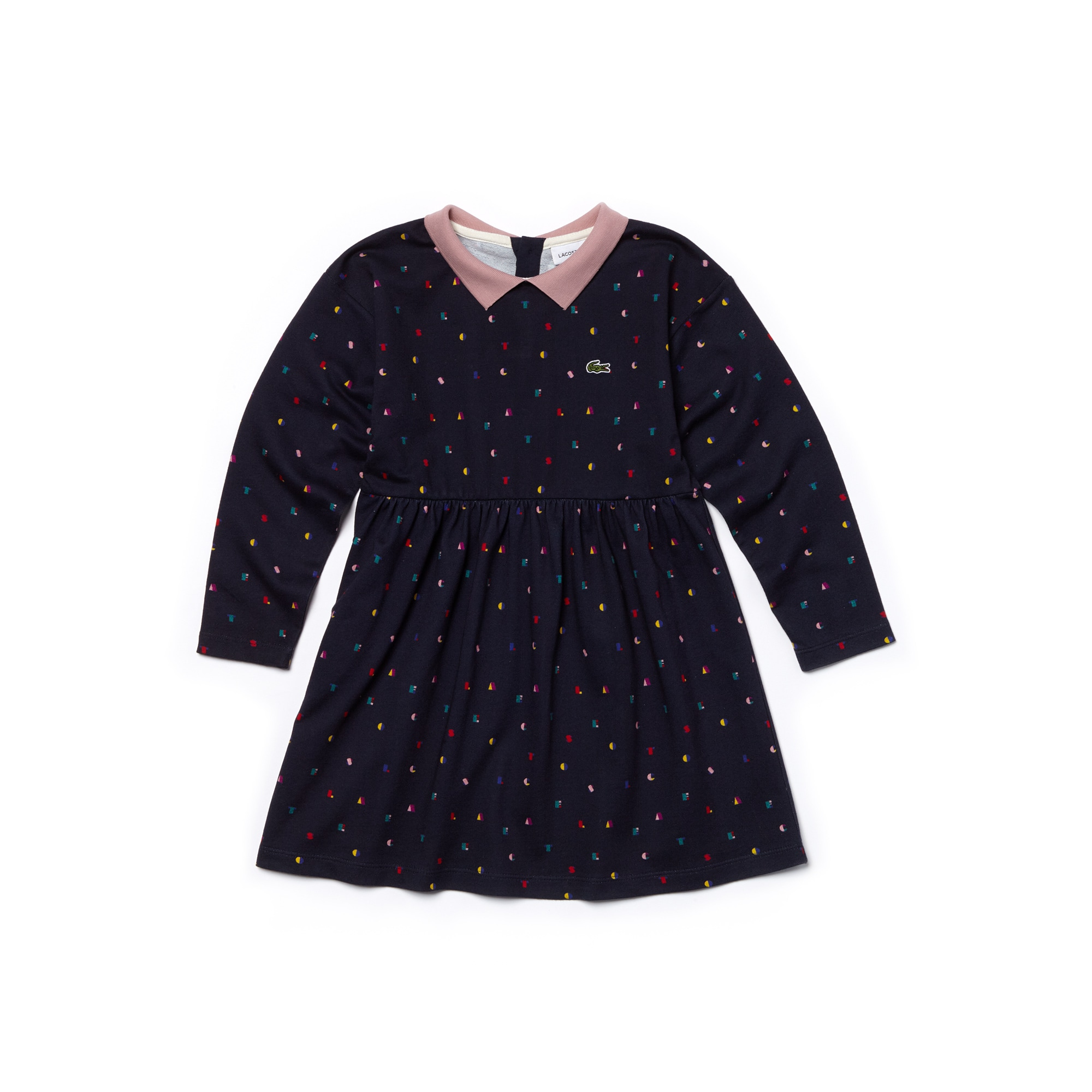 Girls' Print Fleece Polo Dress