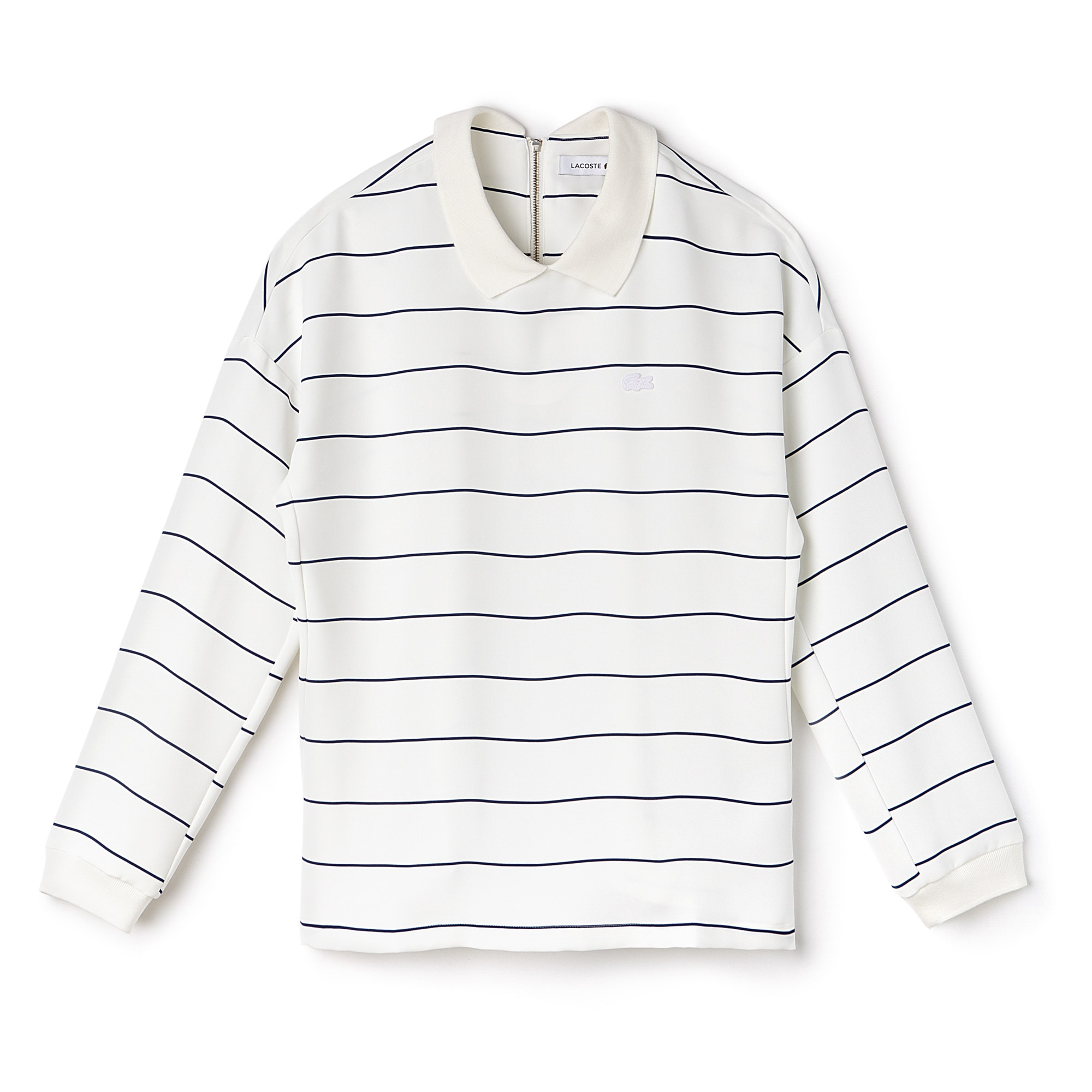 Women's Polo Collar Back Zip Shirt