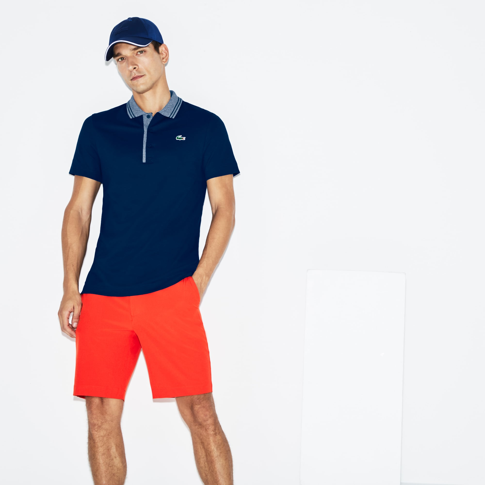 Men's SPORT Jacquard Accents Petit Piqué Golf Polo
