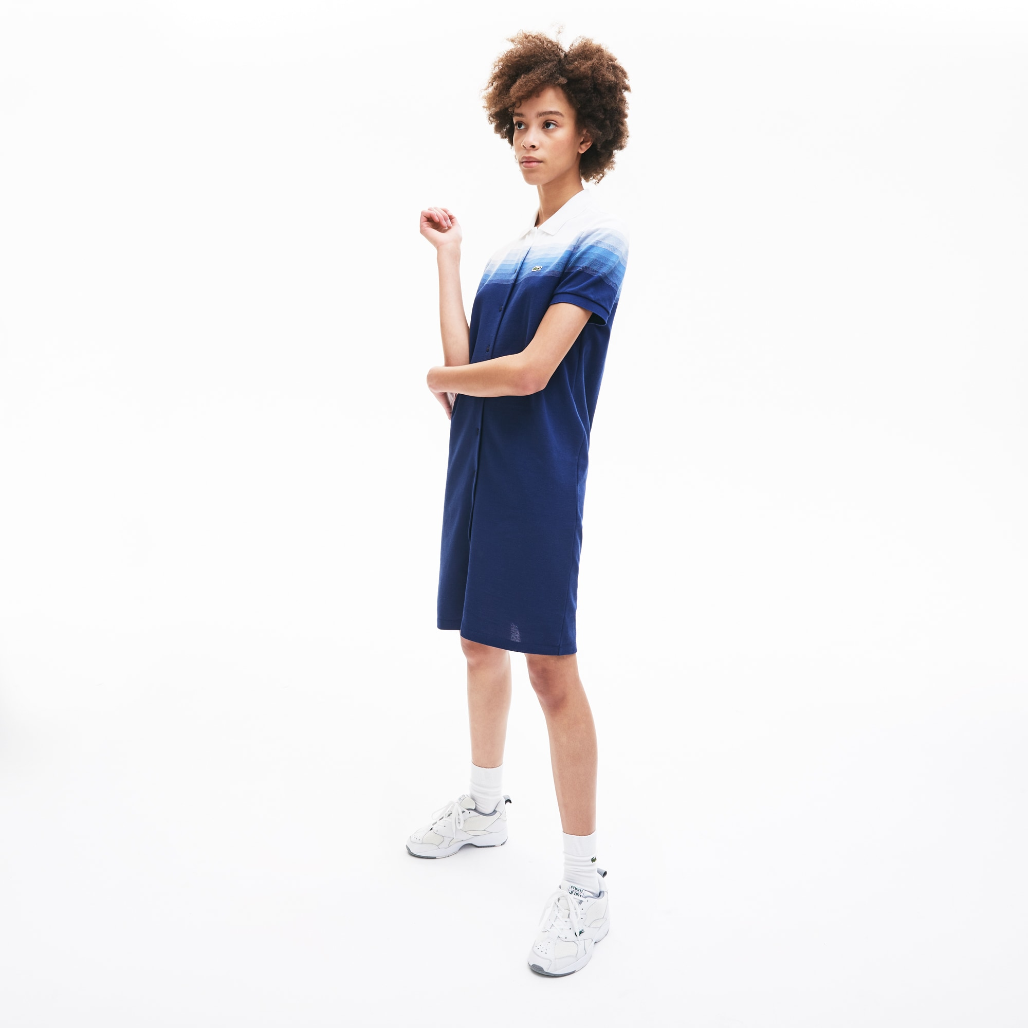 라코스테 Lacoste Womens Made in France Cotton Pique Polo Dress